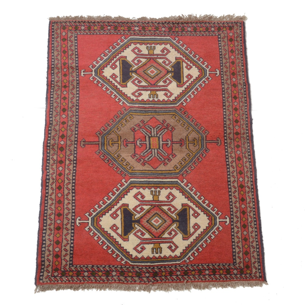 Hand-Knotted Turkish Wool Area Rug