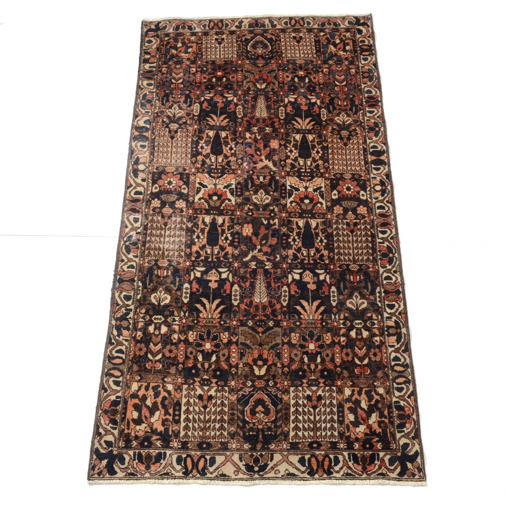 Hand-Knotted Bahktiari Style Garden Panel Area Rug