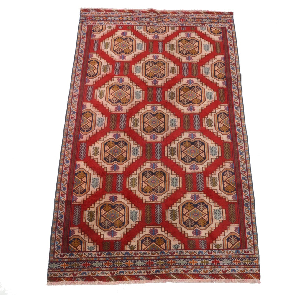 Hand-Knotted Persian Quchan Wool Area Rug
