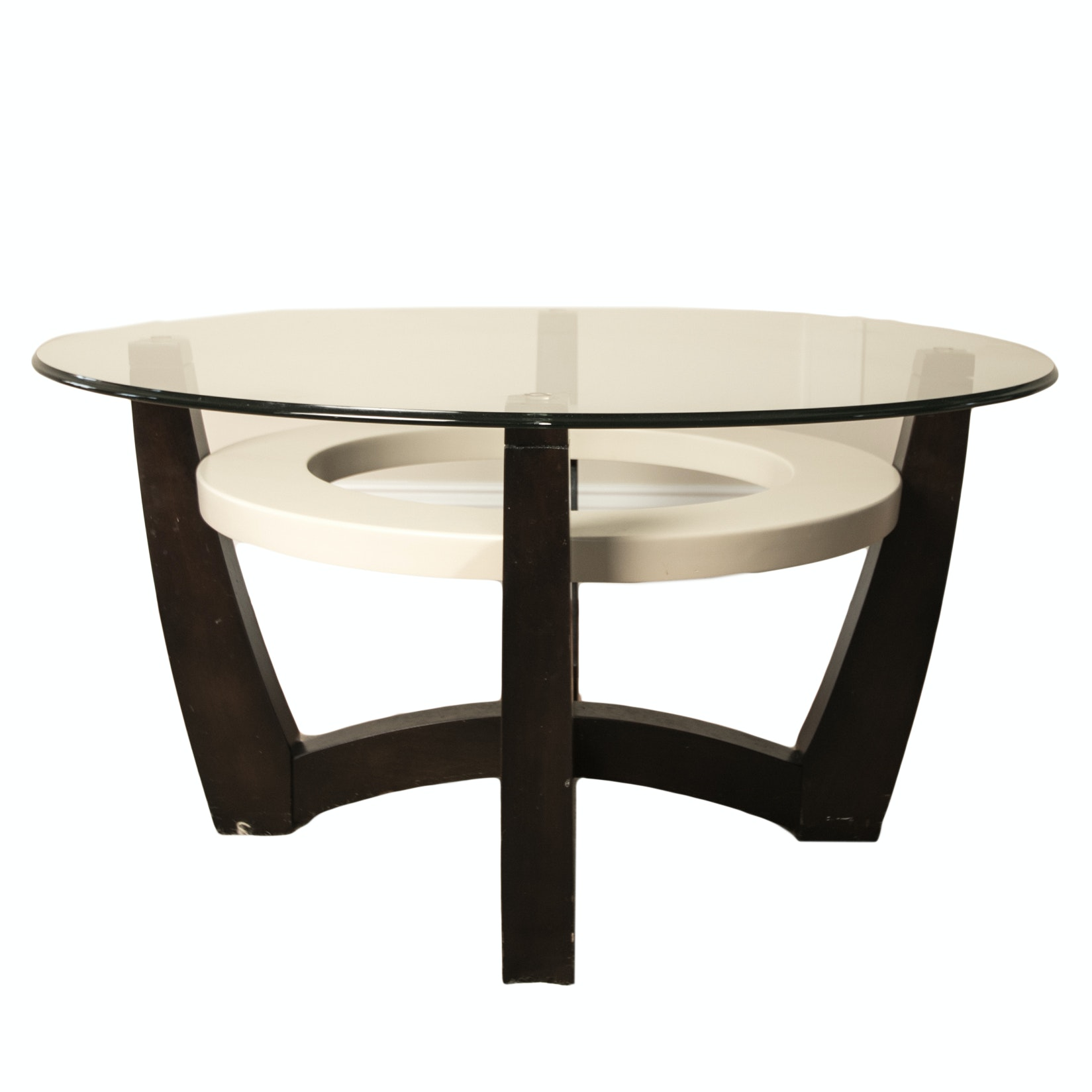 Contemporary Glass Top Occasional Table