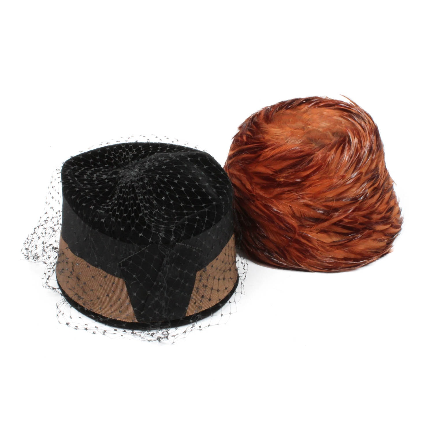 Women's Vintage Hats in Wool and with Feathers