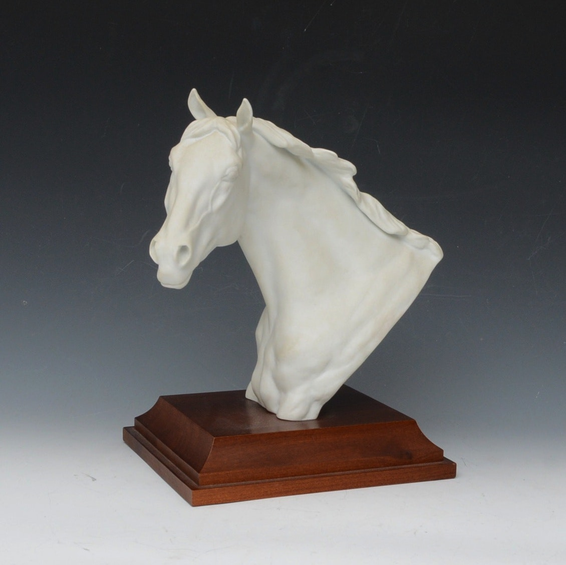 Kaiser Bisque Porcelain Horse with Wood Base
