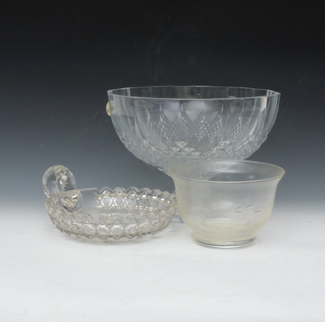 Cut and Etched Crystal Bowls