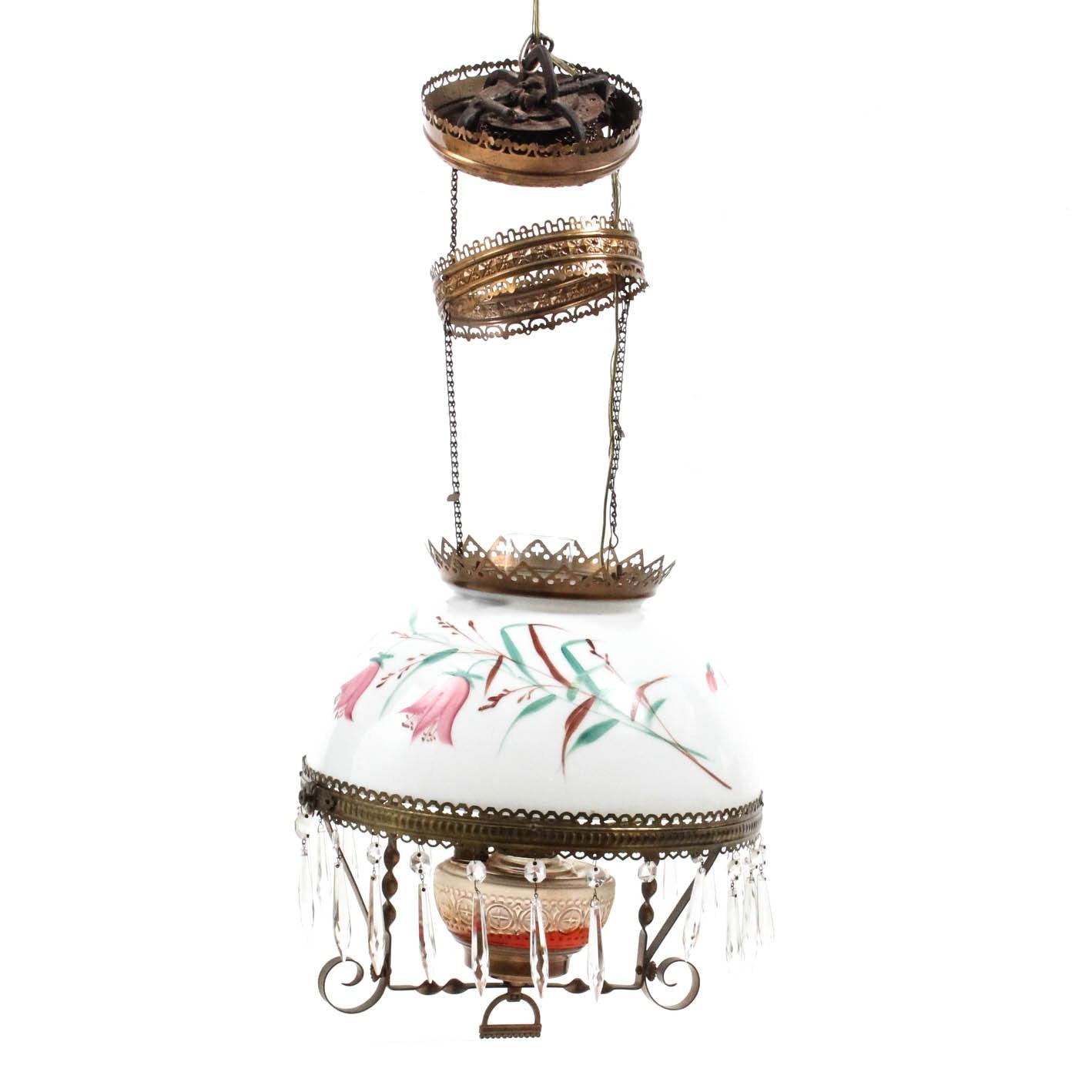 Antique Hanging Oil Lamp Chandelier