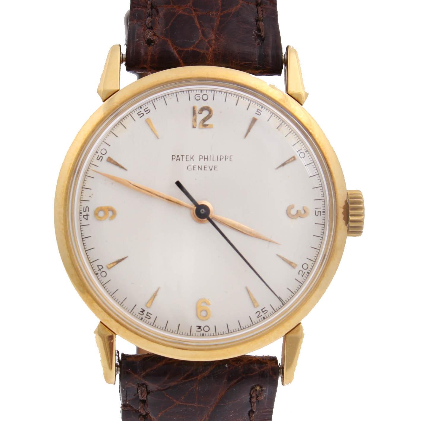 Vintage Patek Philippe 18K Yellow Gold Mechanical Wristwatch