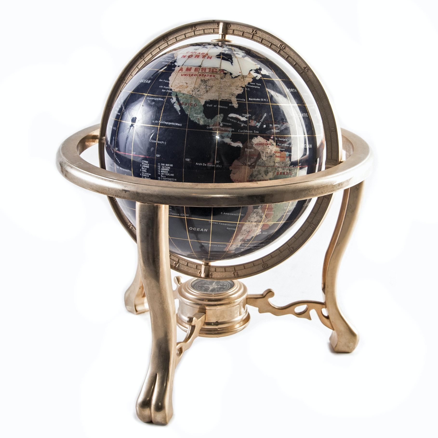 Decorative Mineral Sample Desktop Globe