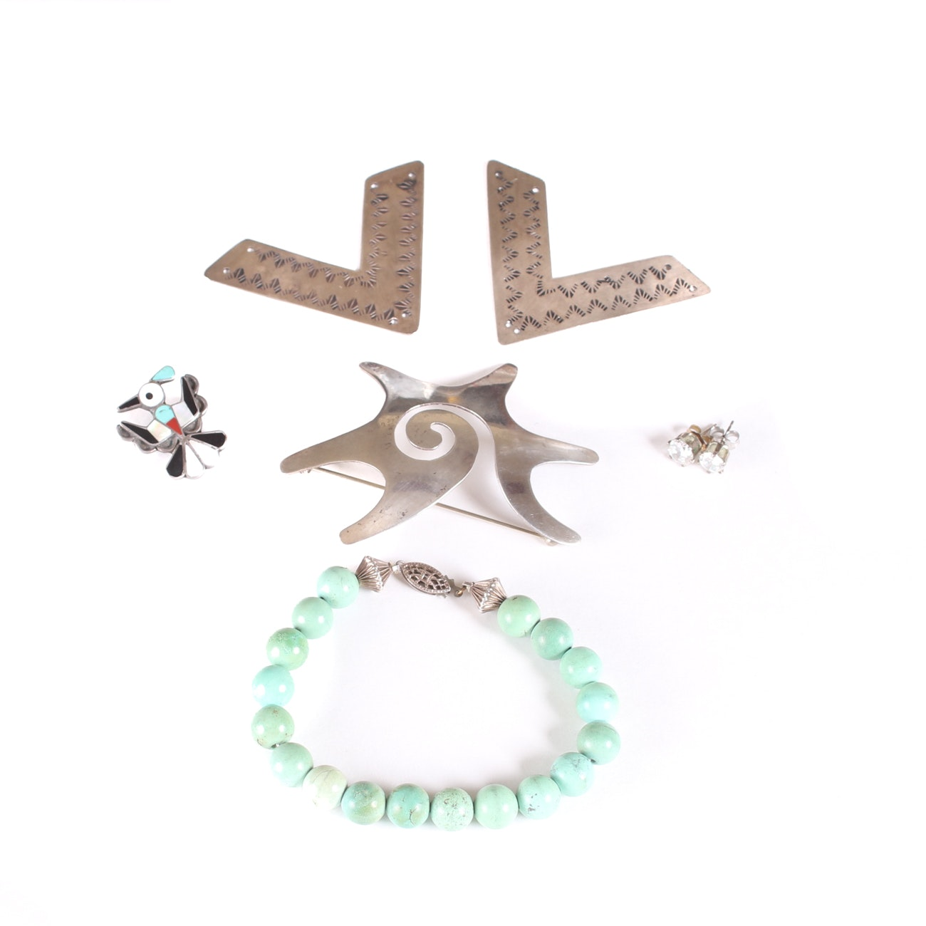 Assortment of Sterling Silver and Turquoise Jewelry