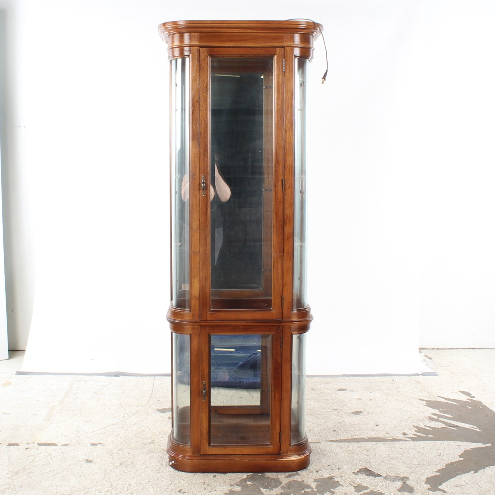 Vintage Oak Curio Cabinet by Pulaski Furniture