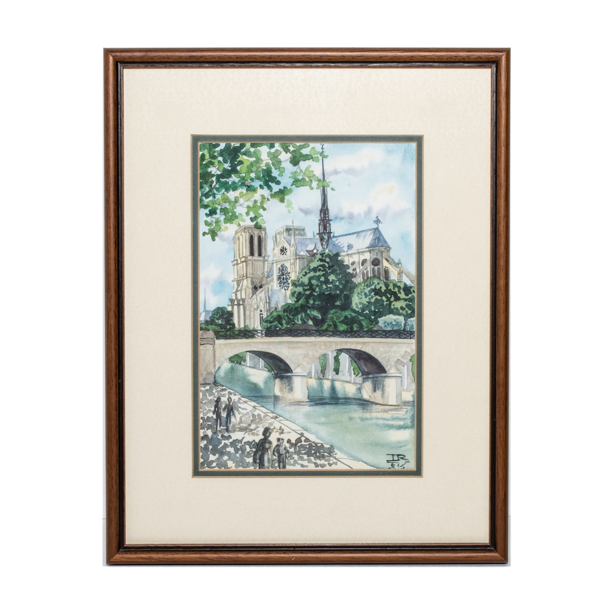 Original Watercolor of Notre-Dame de Paris