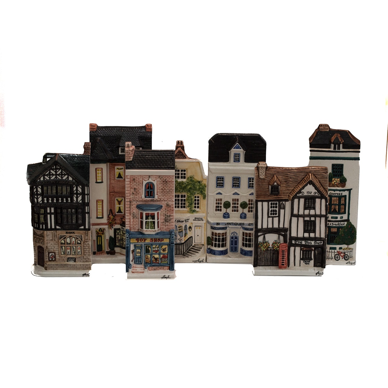 "Hazle Ceramics ""A Nation of Shopkeepers"" British Miniature Storefronts"