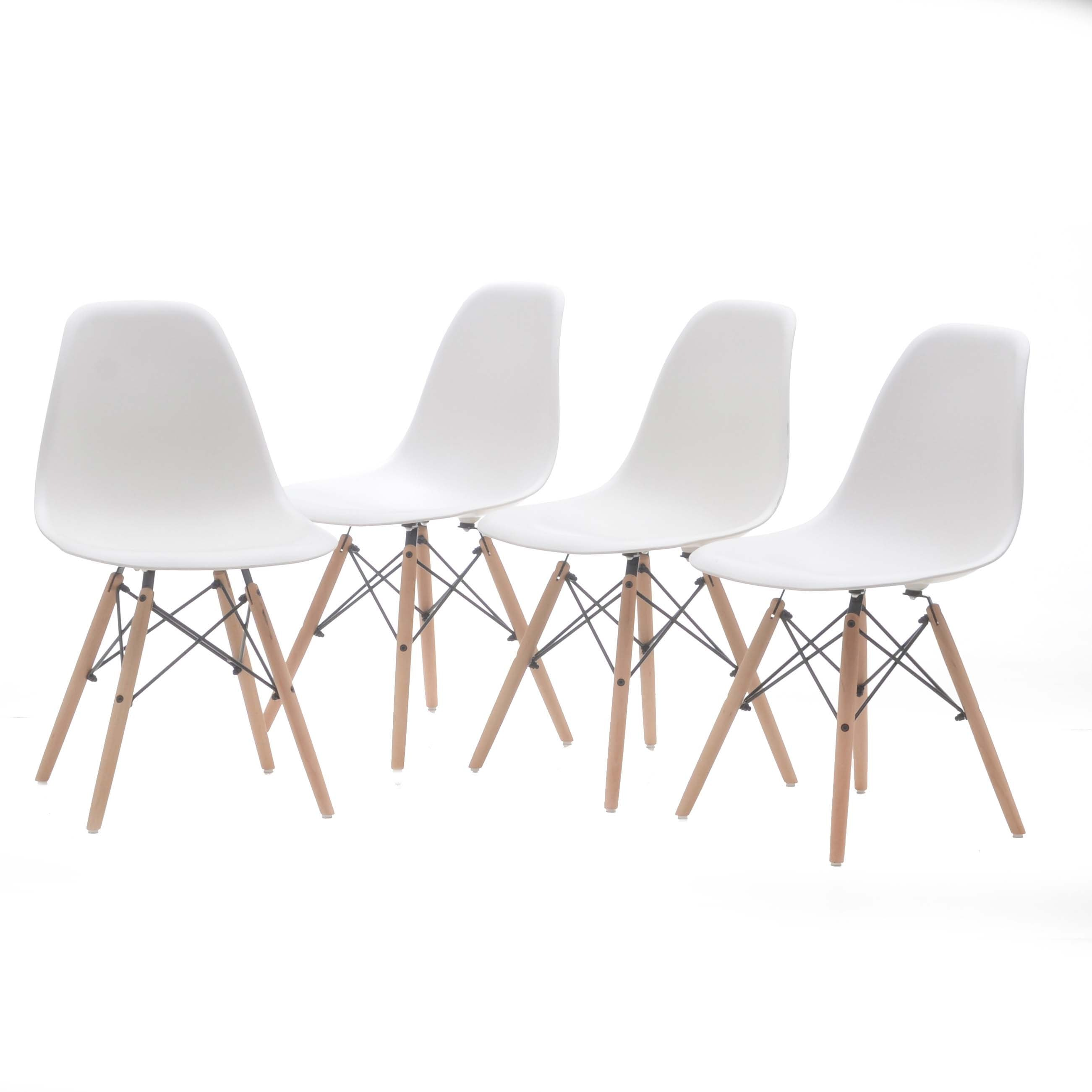 Collection of Eames Style Eiffel Side Chairs