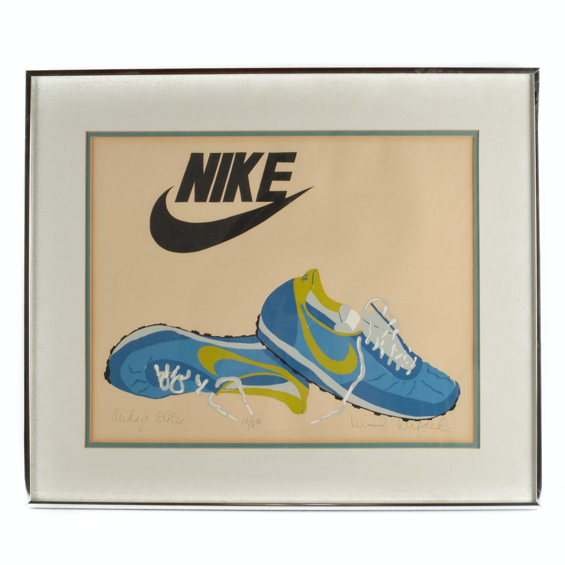Lee R. Lerfald Limited Edition Nike Serigraph on Paper