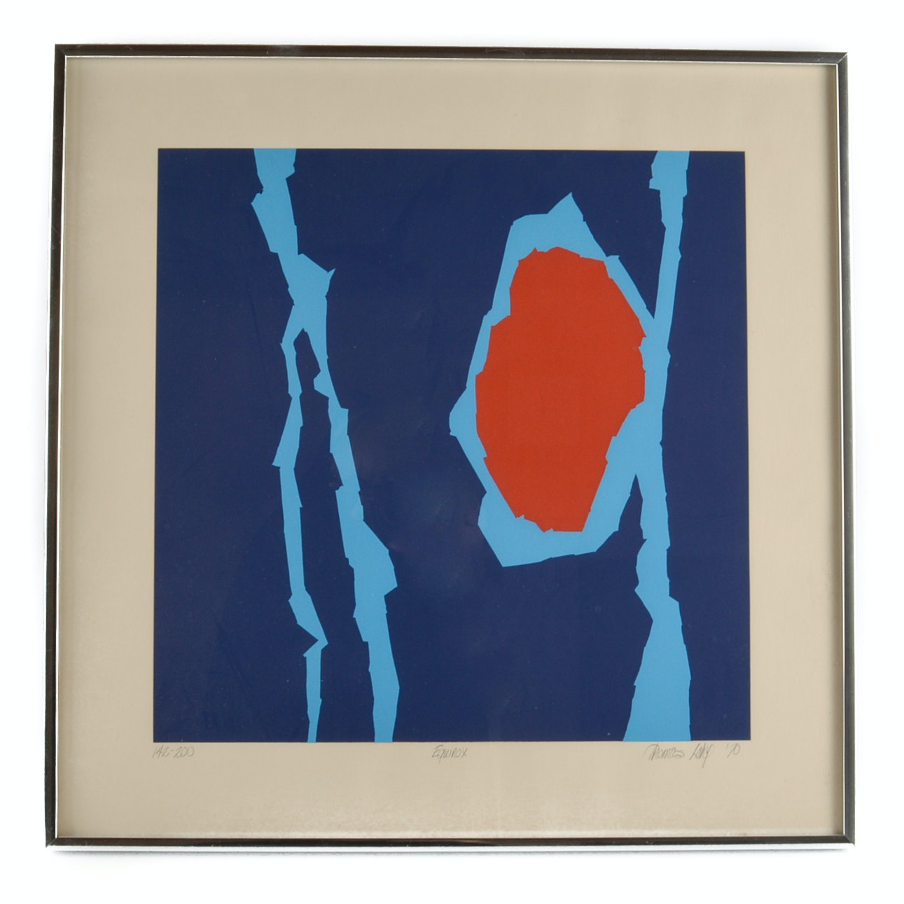 "Thomas Lahy 1970 Limited Edition Serigraph on Paper ""Equinox"""