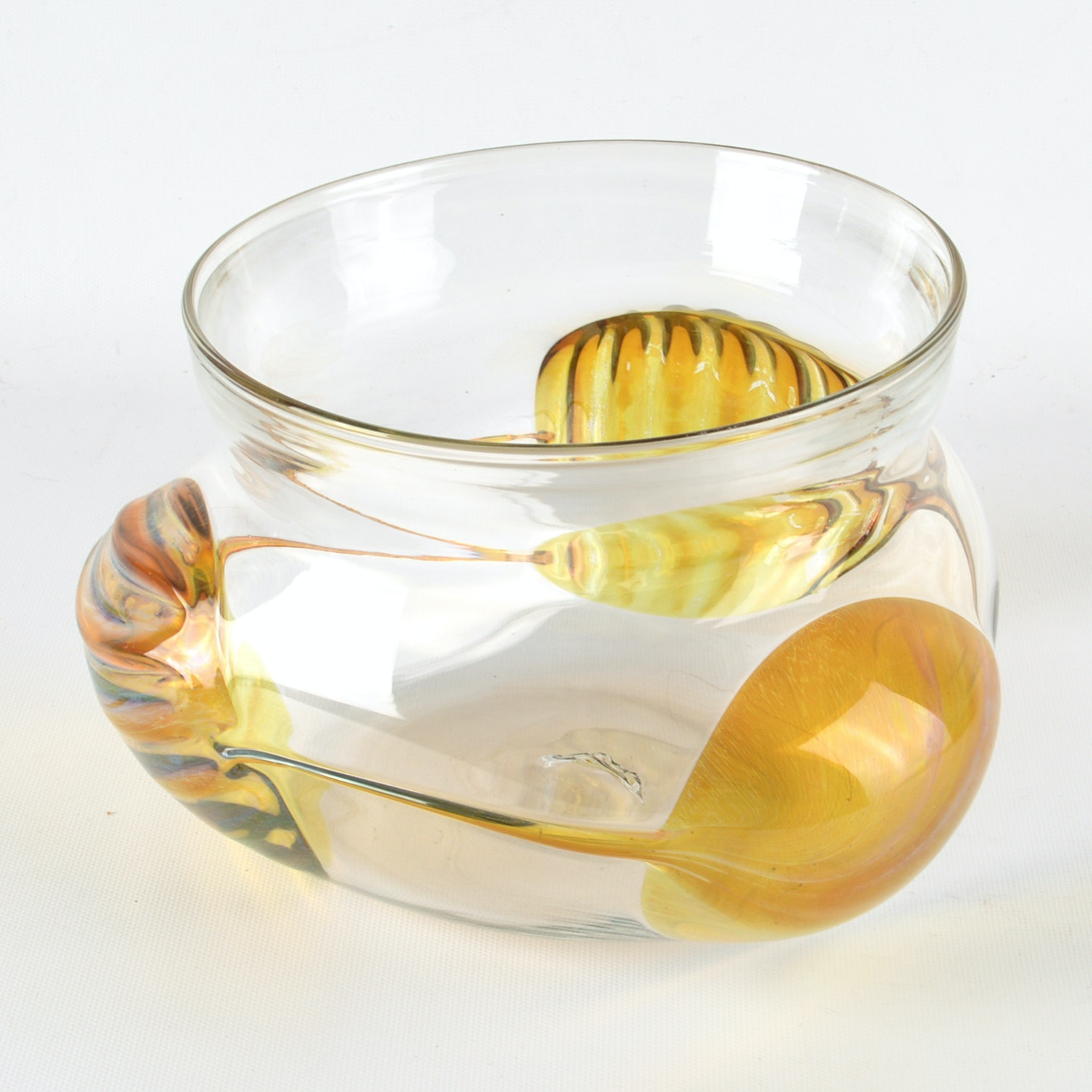 Peter Bramhall 1981 Art Glass Vase