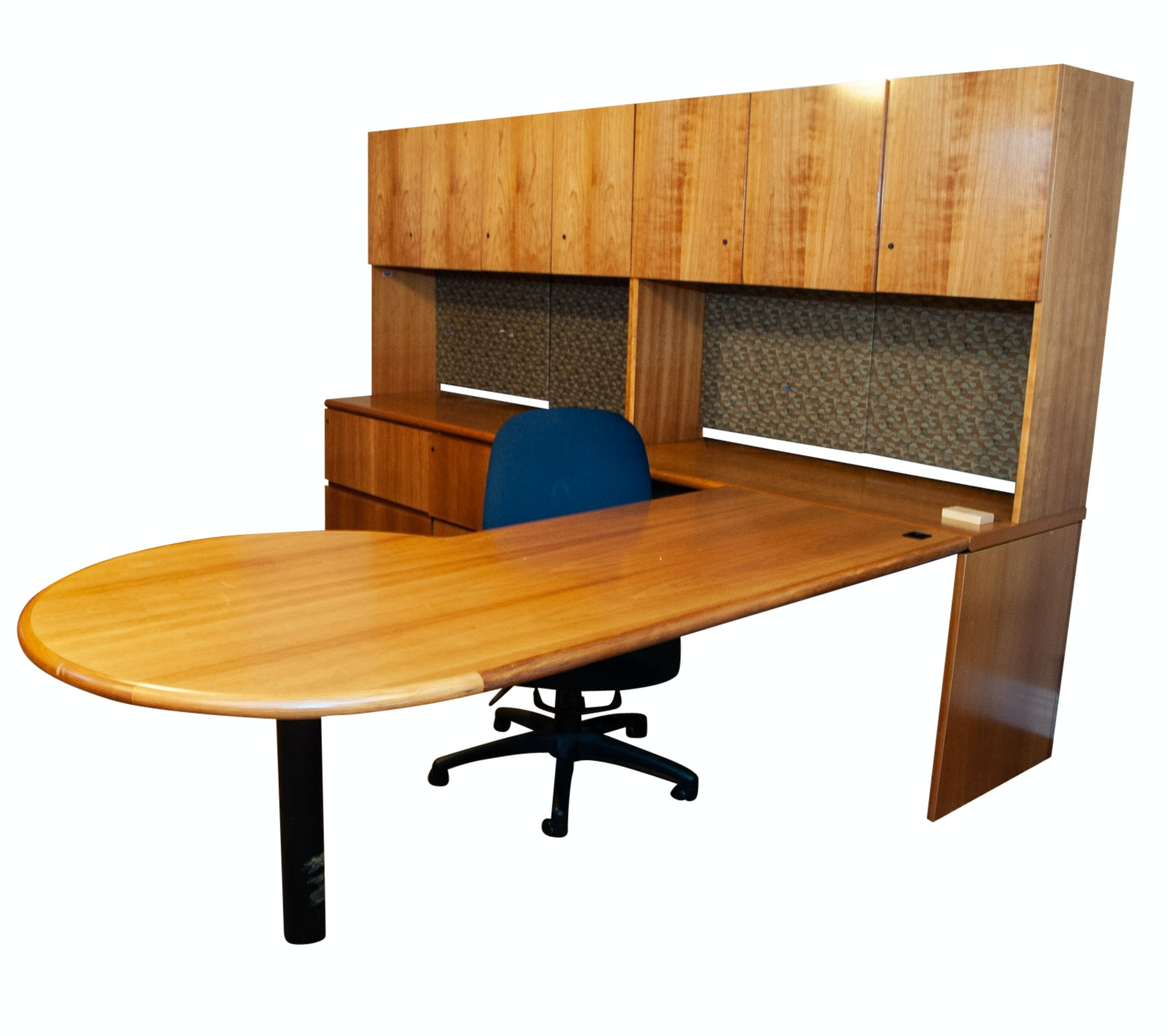 Geiger Modular Office Desk with Hutch