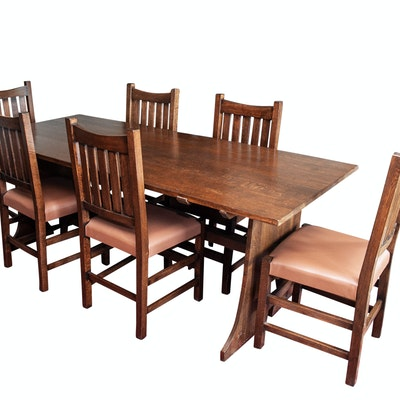 mid century modern expandable dining table ebth. Black Bedroom Furniture Sets. Home Design Ideas