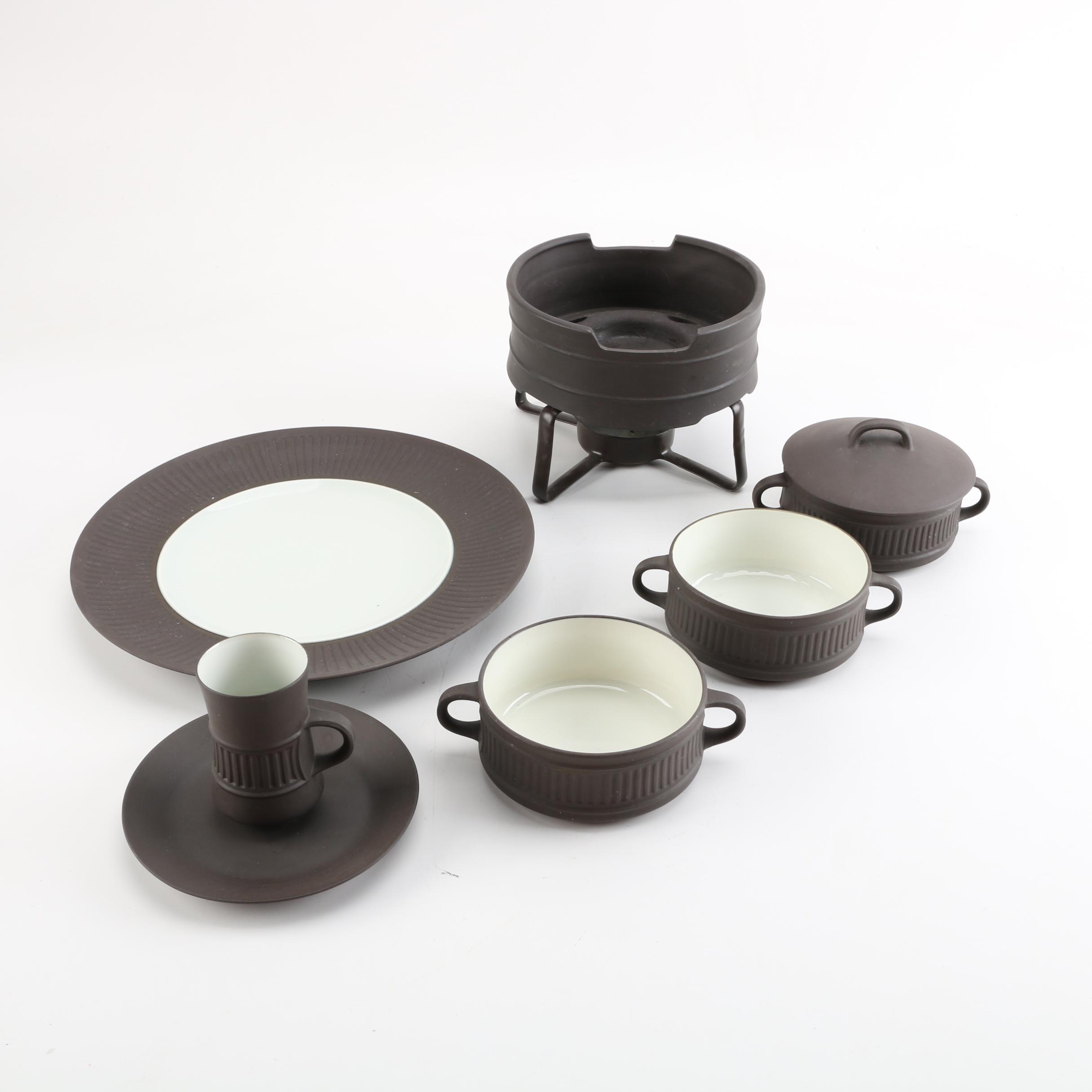 "Jens Quistgaard Danish Modern ""Flamestone"" Dansk Tableware"