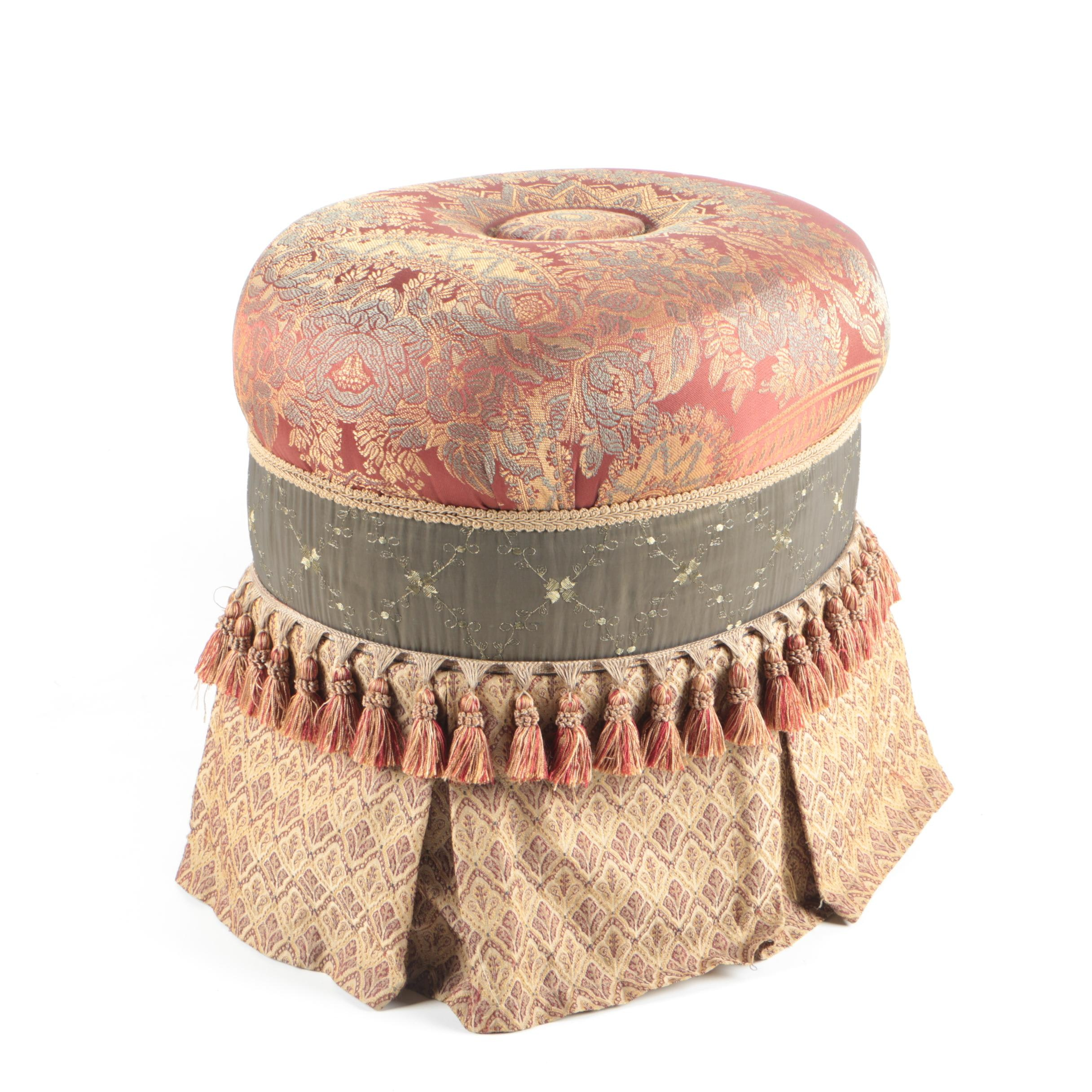 Upholstered Footstool by Veratex
