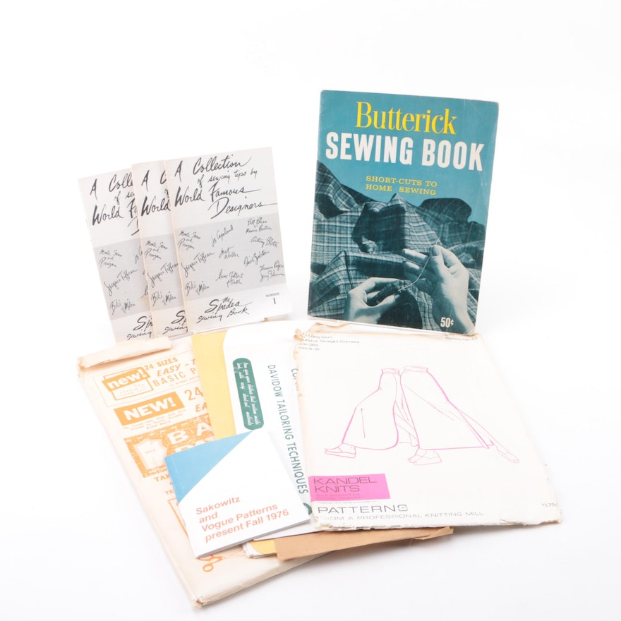 Mid Century Sewing Patterns and Books Featuring Butterick and Vogue ...
