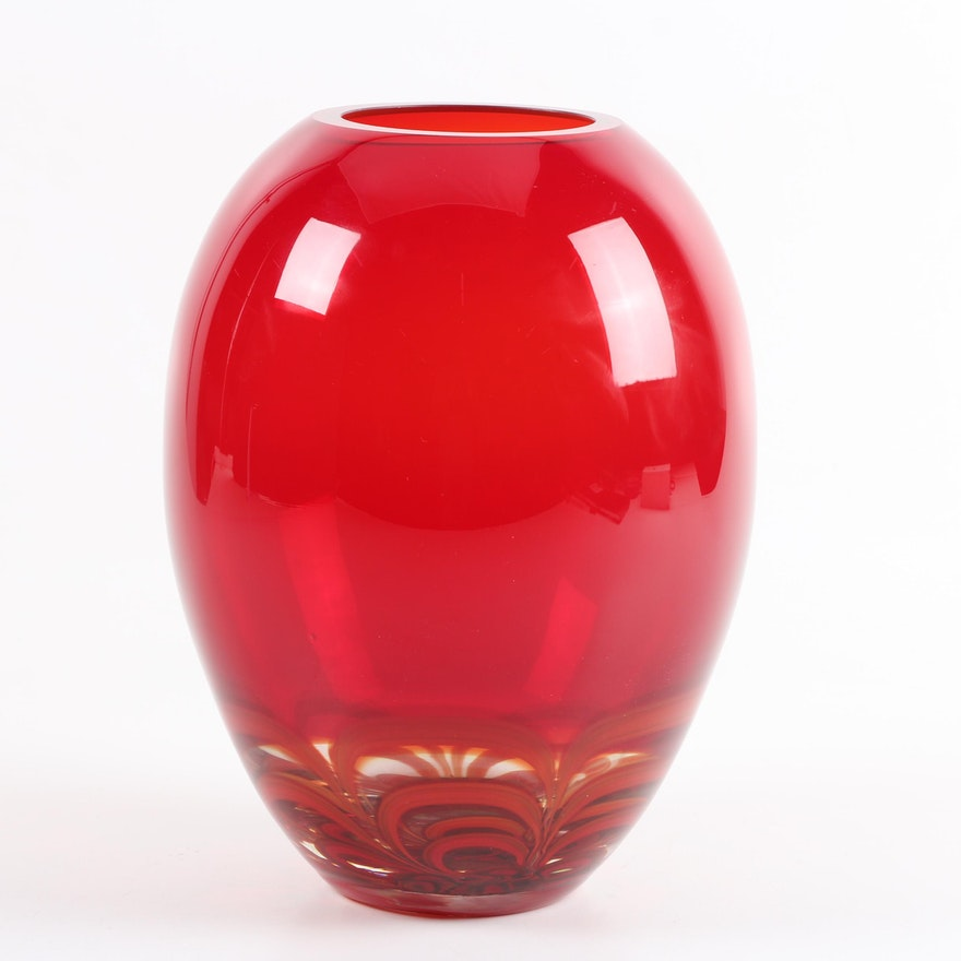 Evolution By Waterford Ginger Jar Glass Vase Ebth