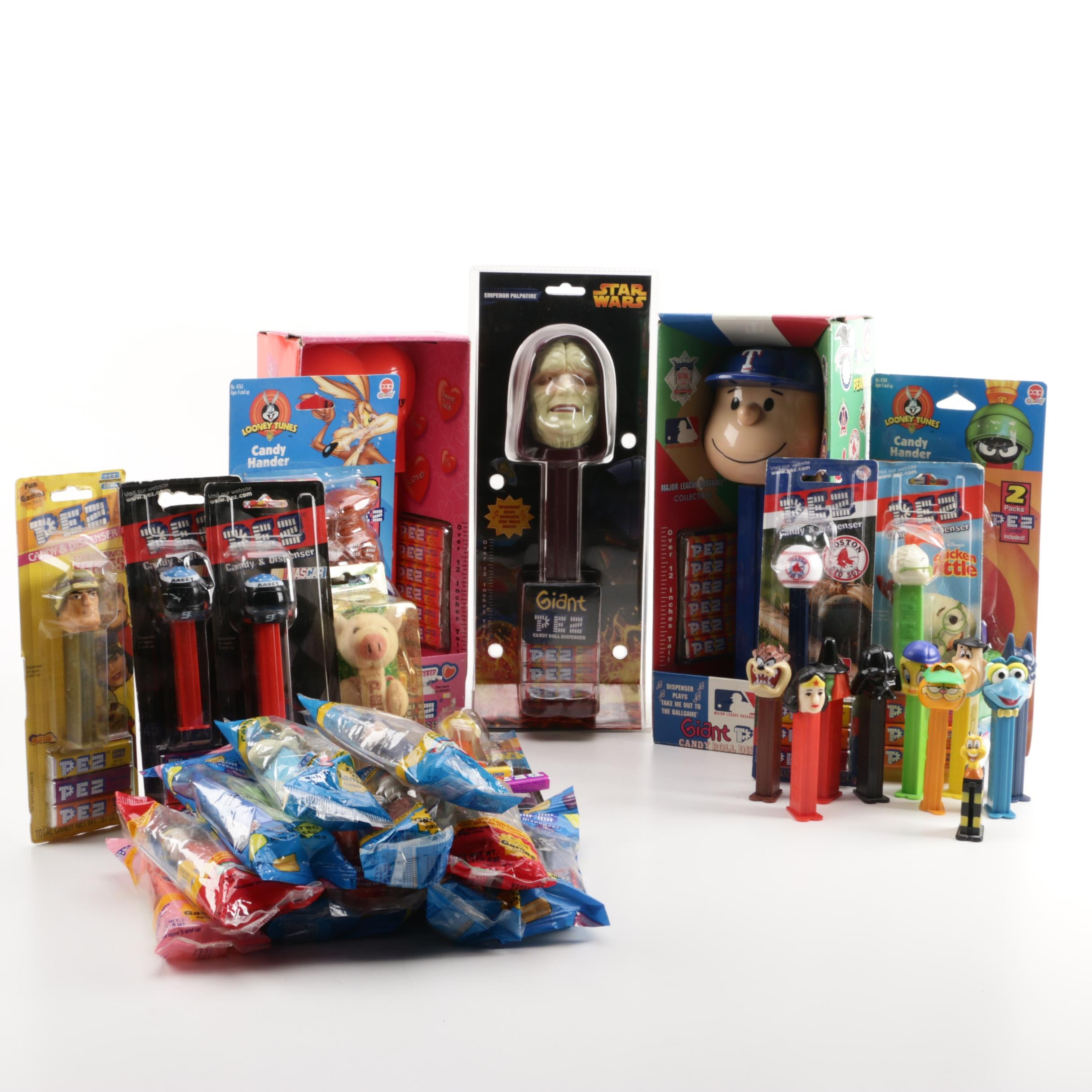 "Pez Dispensers Including ""Star Wars"""