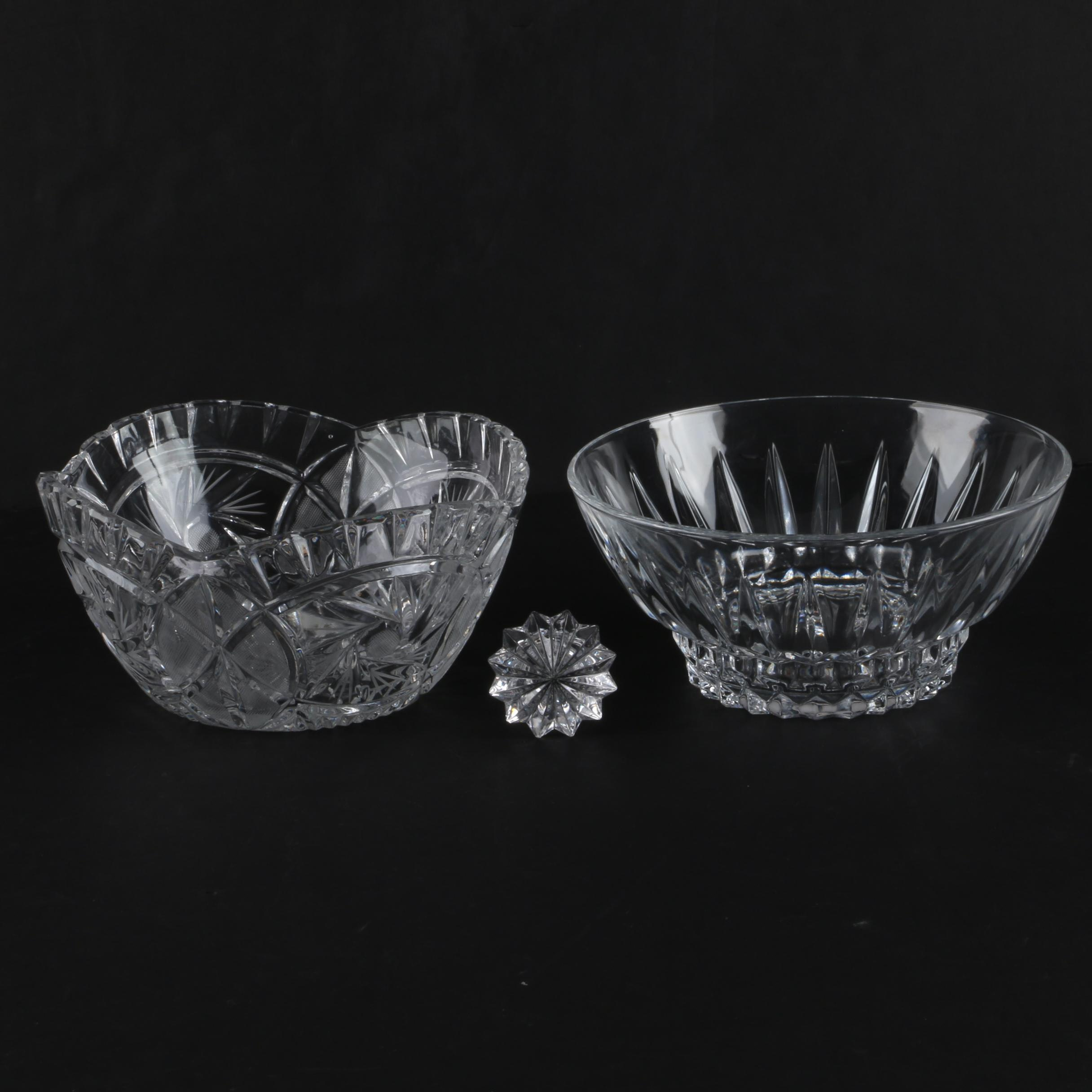 """Crystal Bowls and Marquis by Waterford """"Brookside"""" Stopper"""
