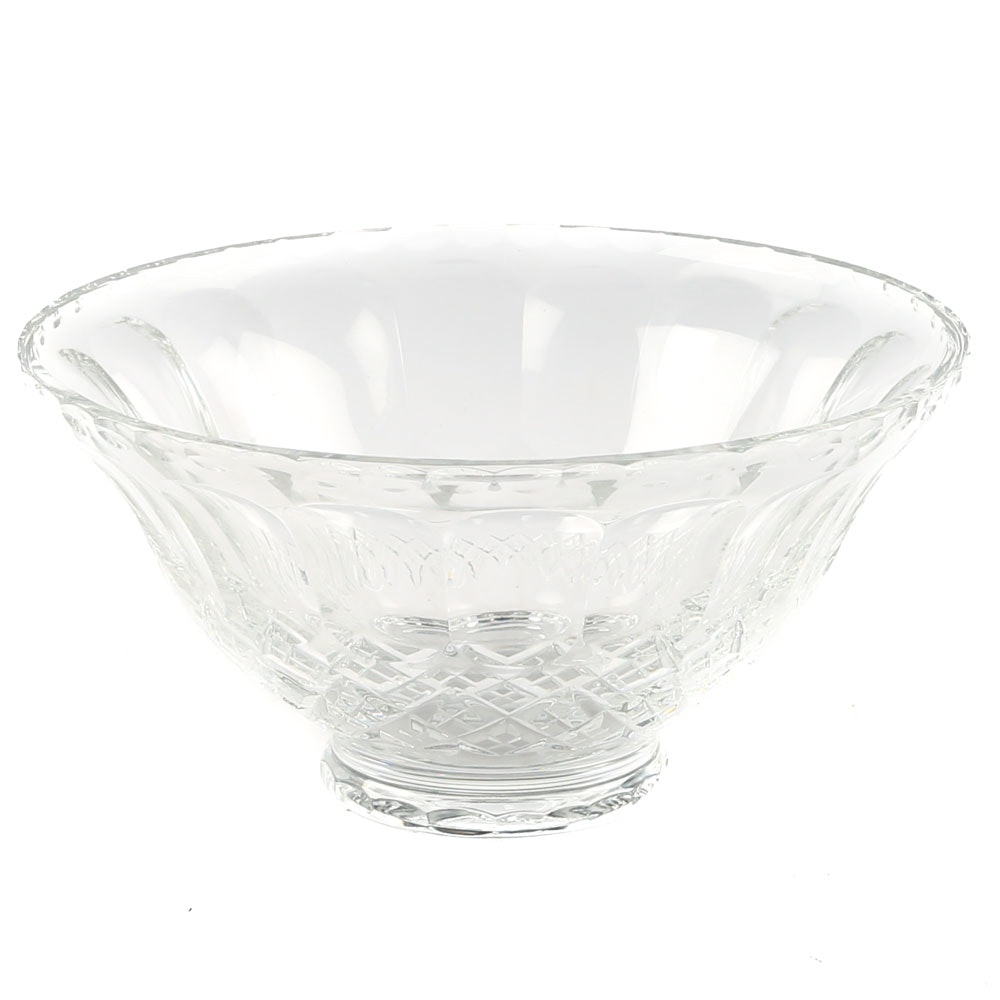 Lead Crystal Centerpiece Serving Bowl