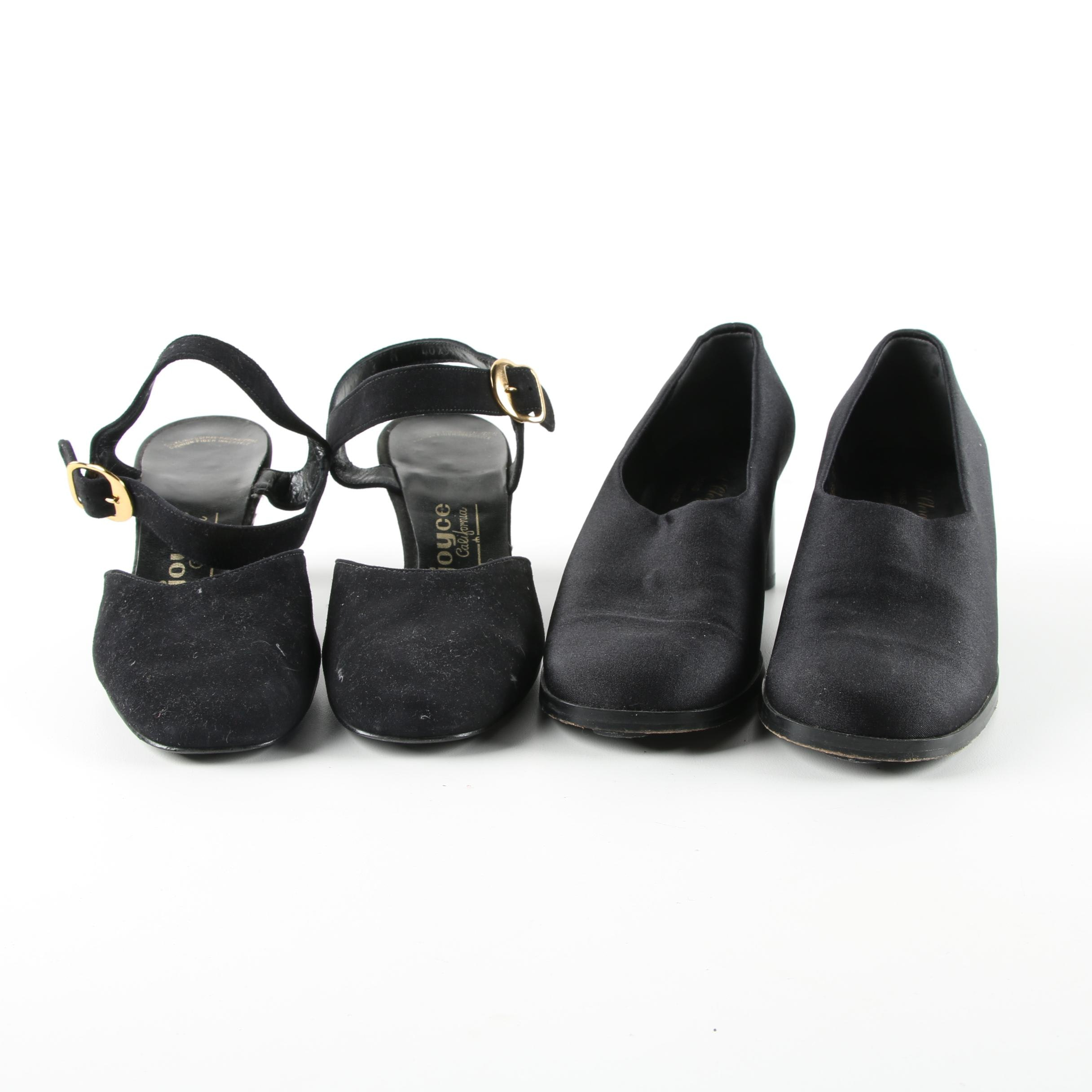 Vintage Robert Clergerie Pumps and Joyce California Slingbacks in Black