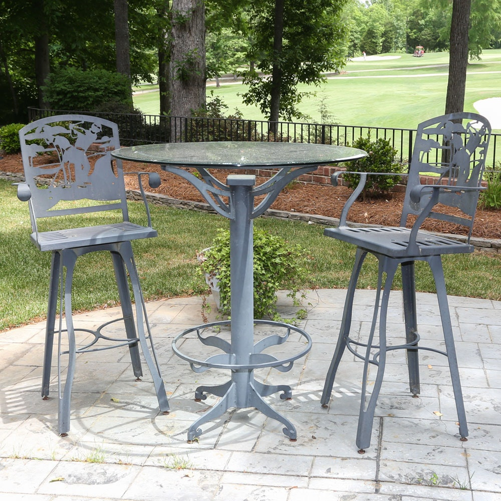 Patio Pub Table and Chairs
