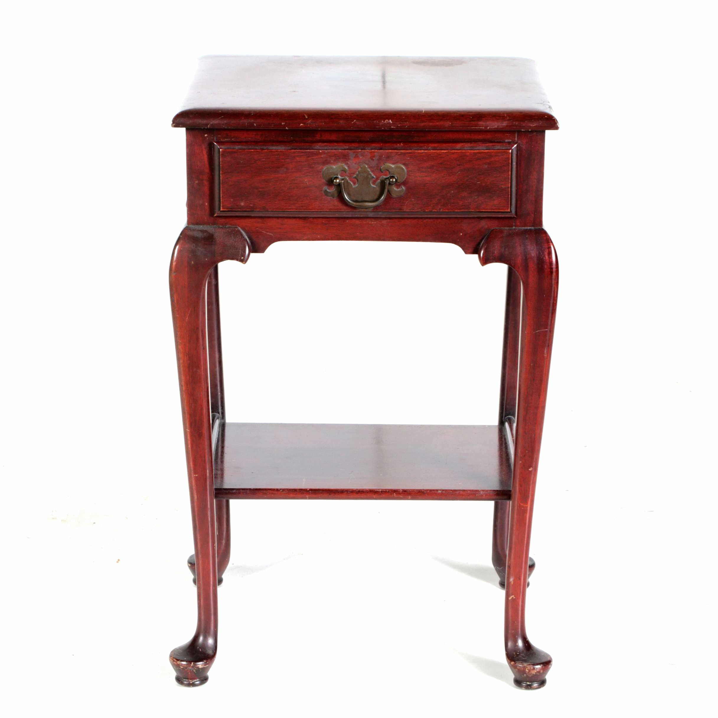 Vintage Queen Anne Style Side Table