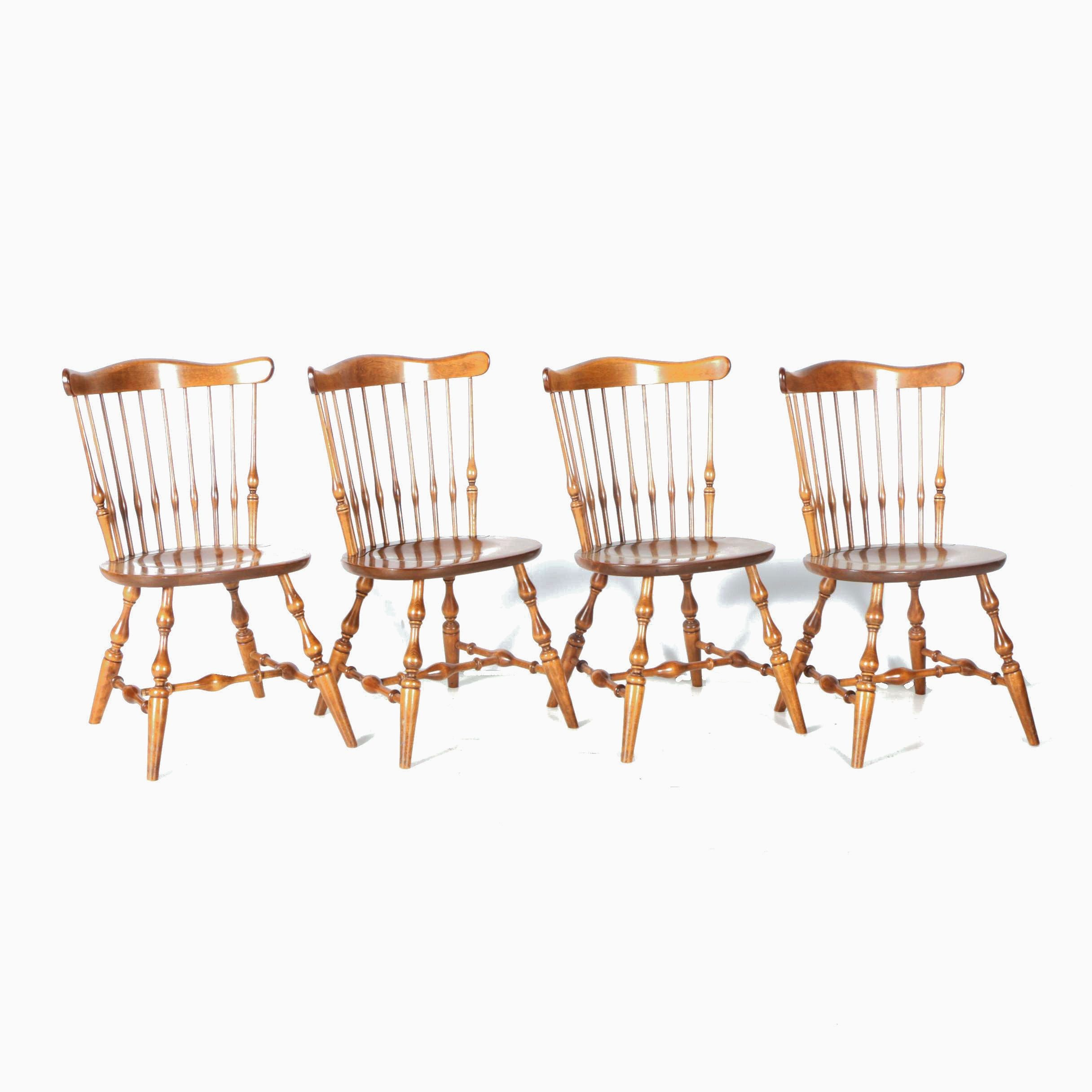 Four Windsor Style Chairs by Ethan Allen