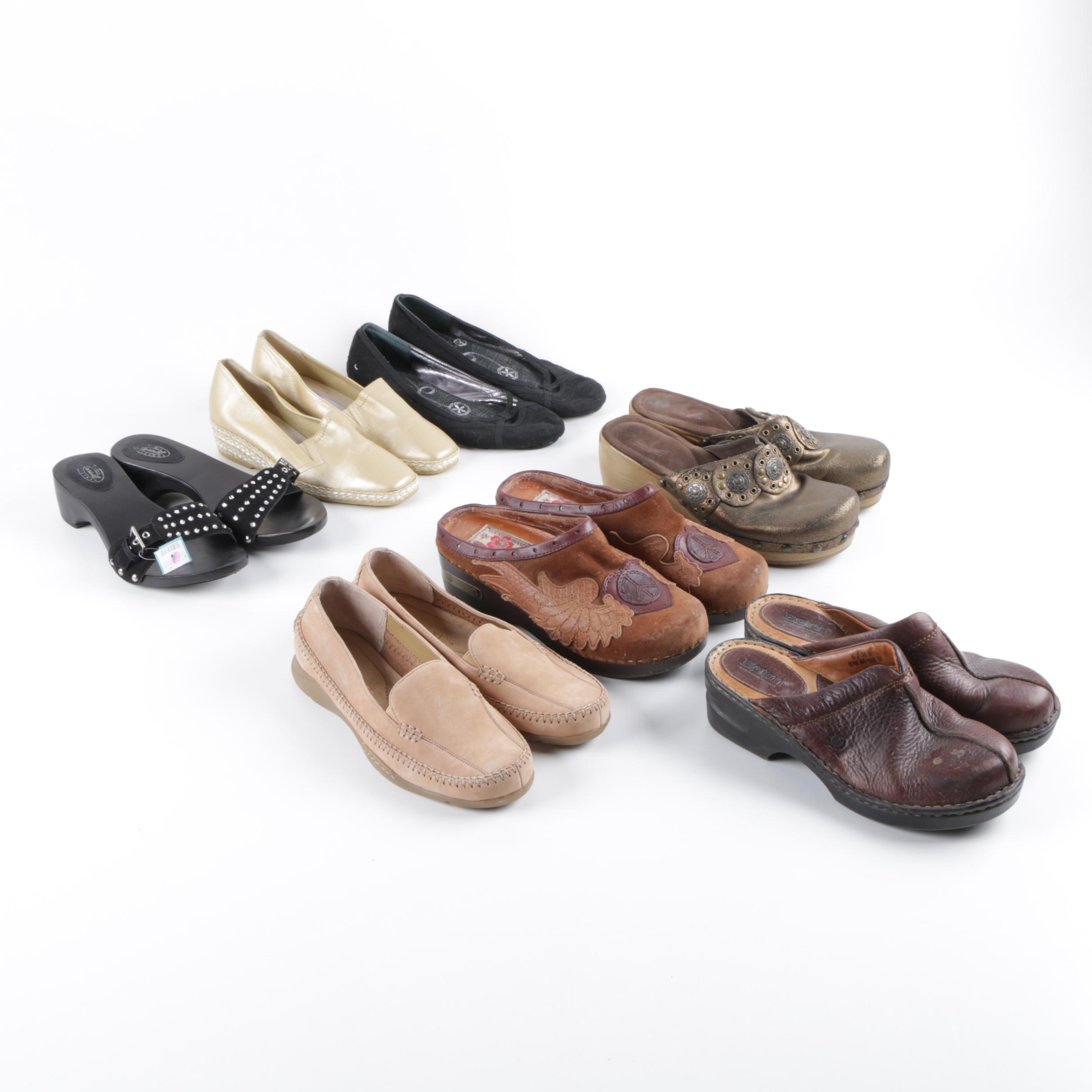 Women's Clogs, Flats and Slides Including Lucky Brand, Andre Assous and Born