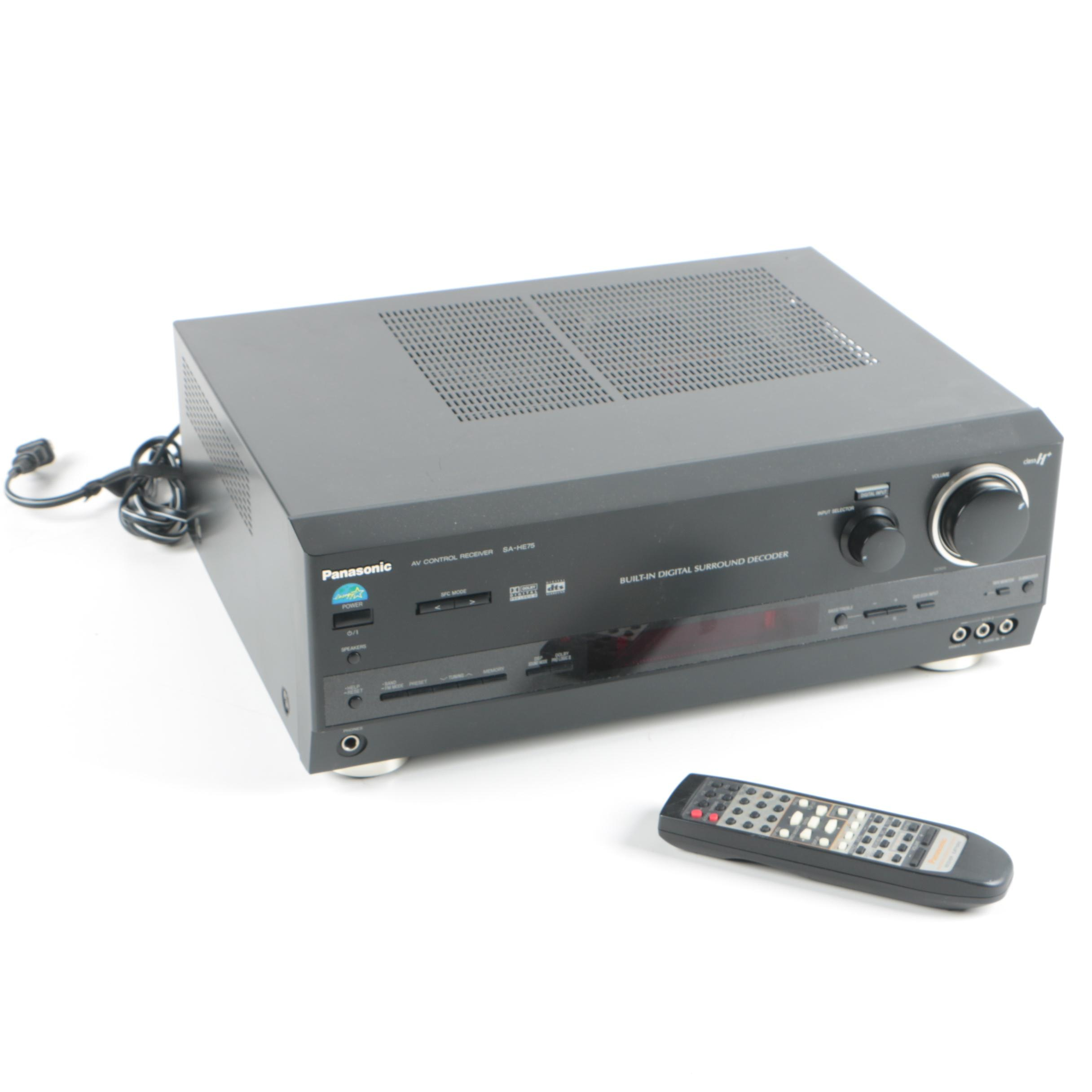 Panasonic SA-HE75 AV Control Center Receiver with Remote Control