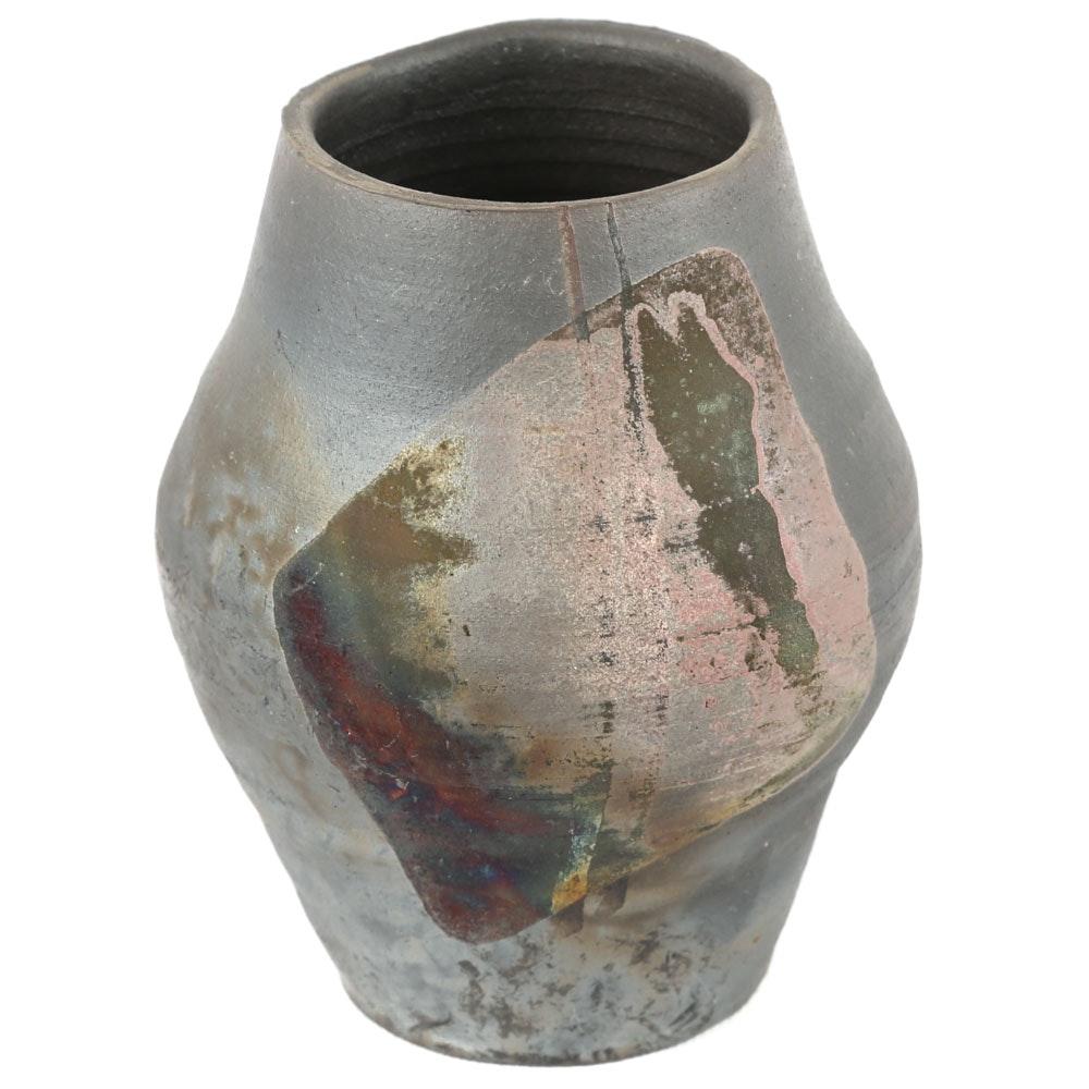 Phillip Pollet Raku Fired Vase