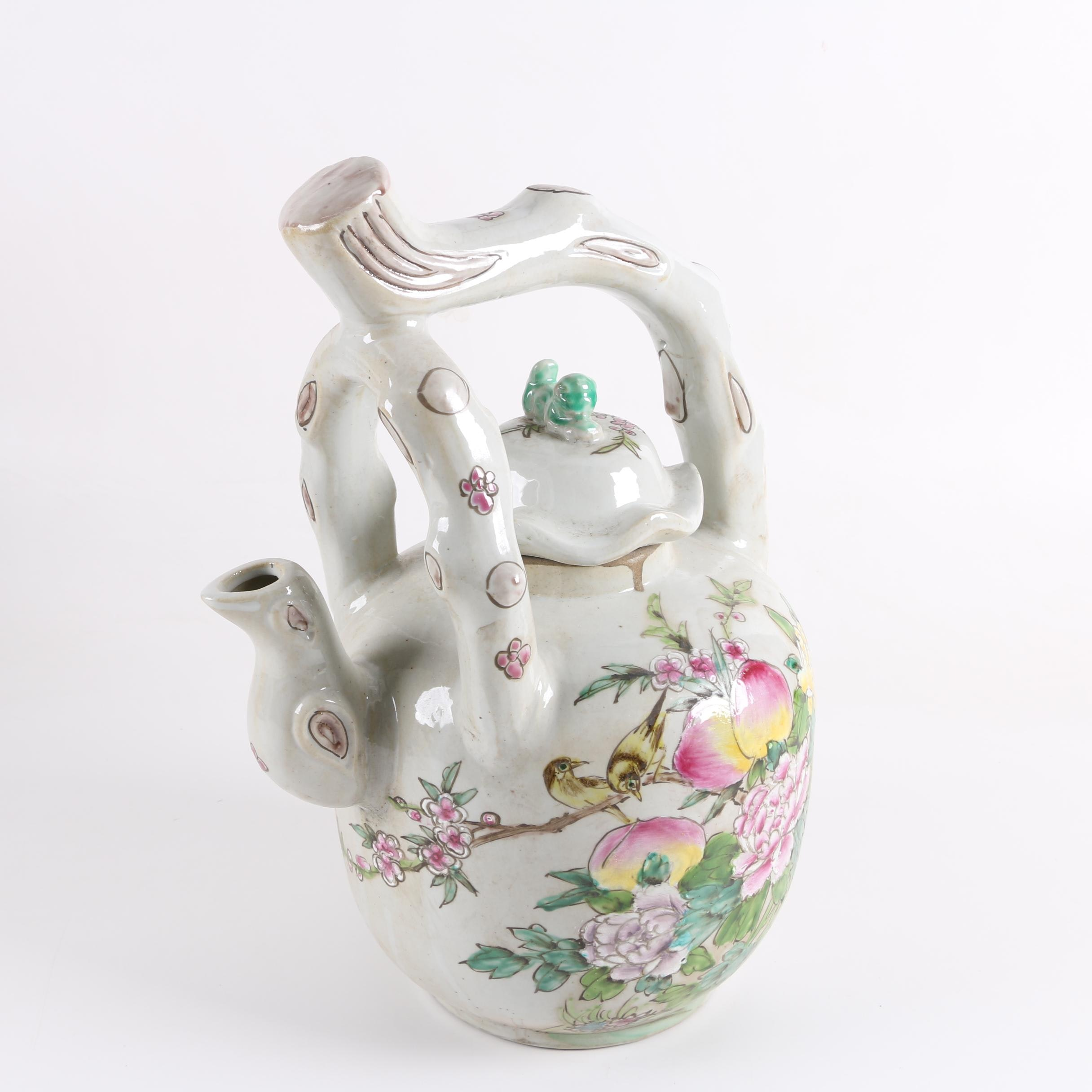 Chinese Hand-Painted Porcelain Teapot