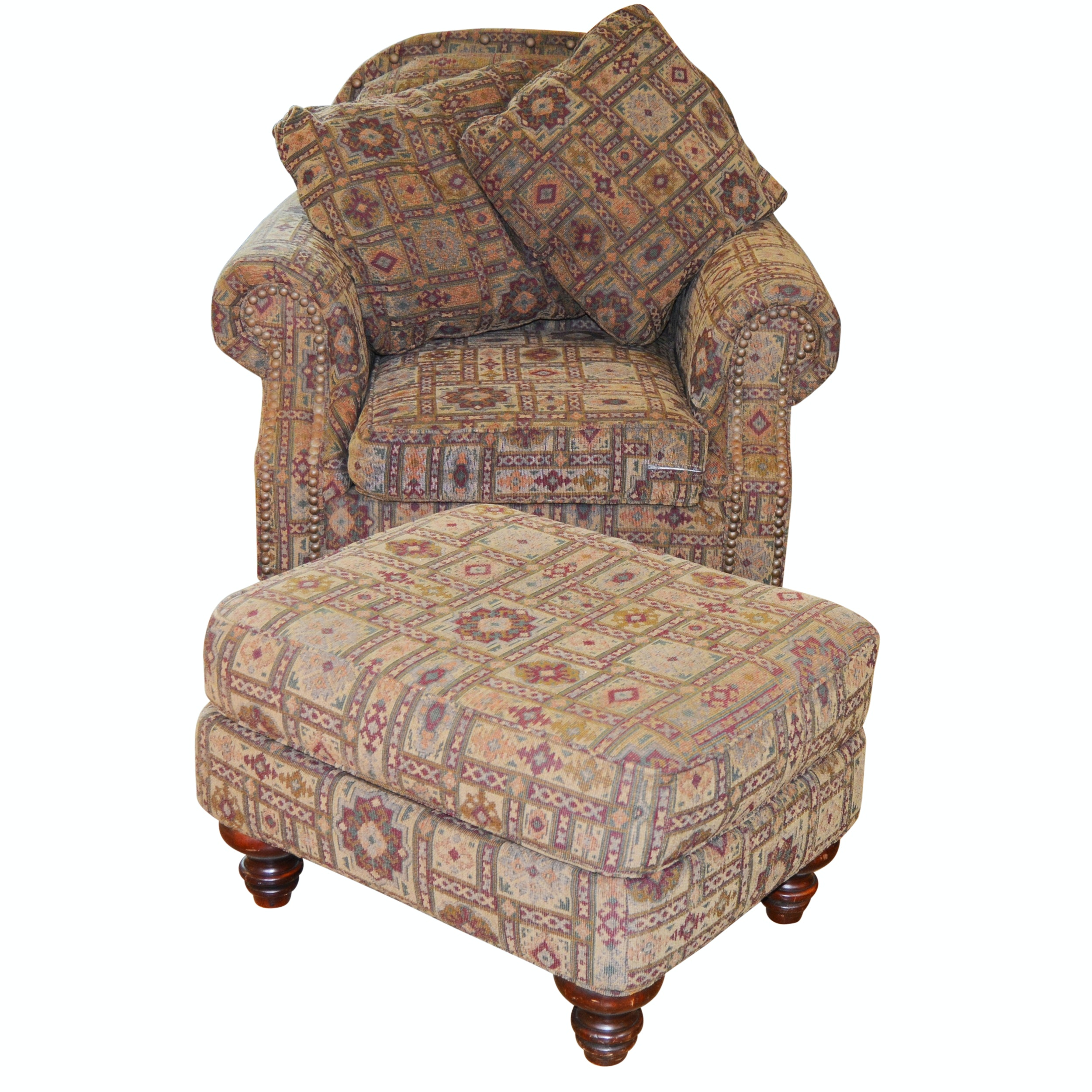 Broyhill Upholstered Lounge Chair and Ottoman