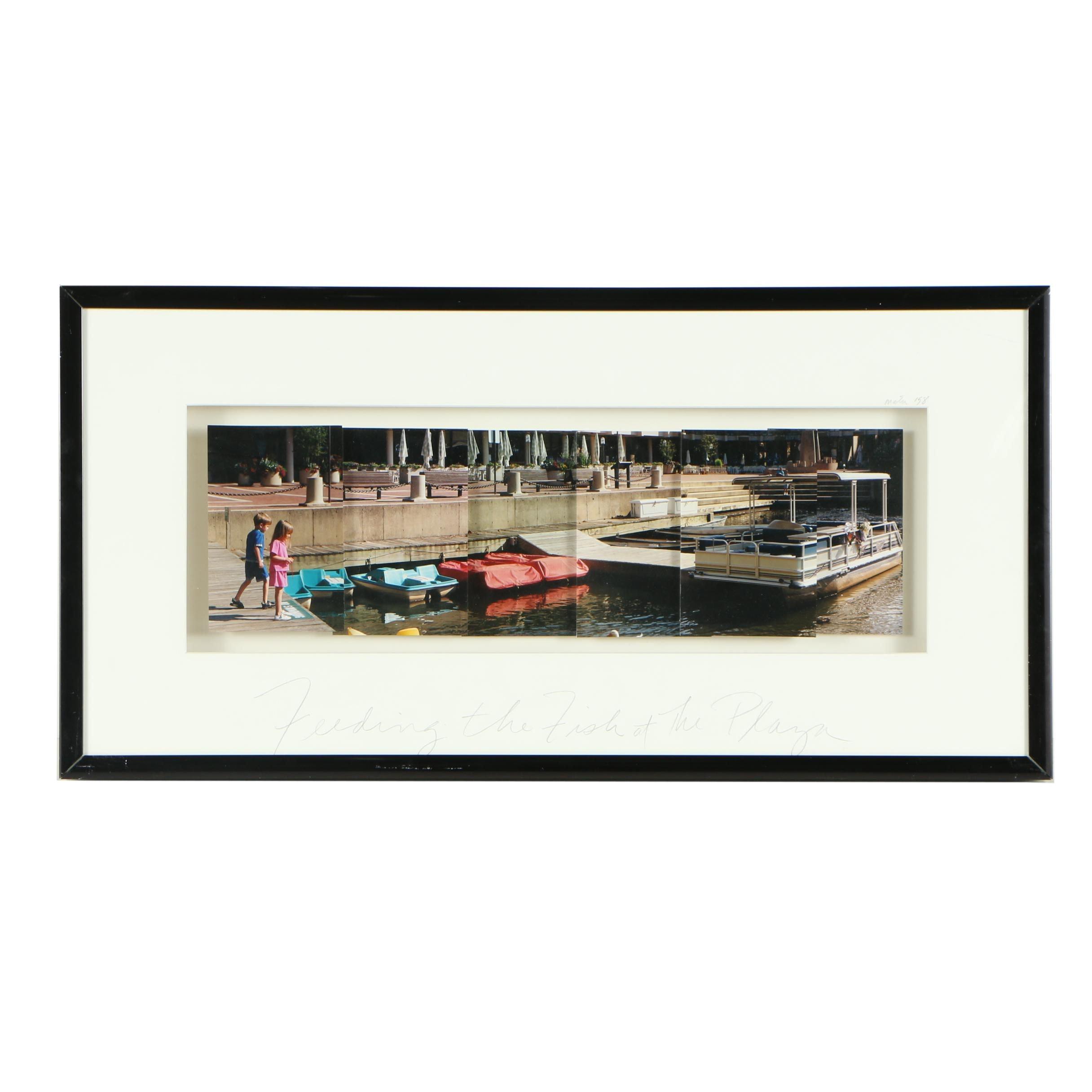 "Greta Matus Color Photographic Constructions ""Feeding the Fish at the Plaza"""