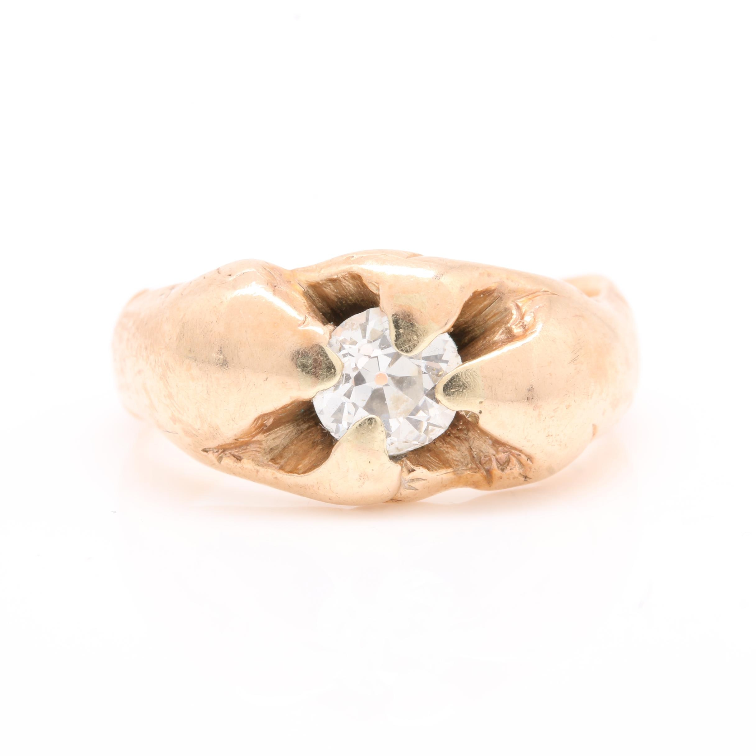 Vintage 10K Yellow Gold Diamond Ring