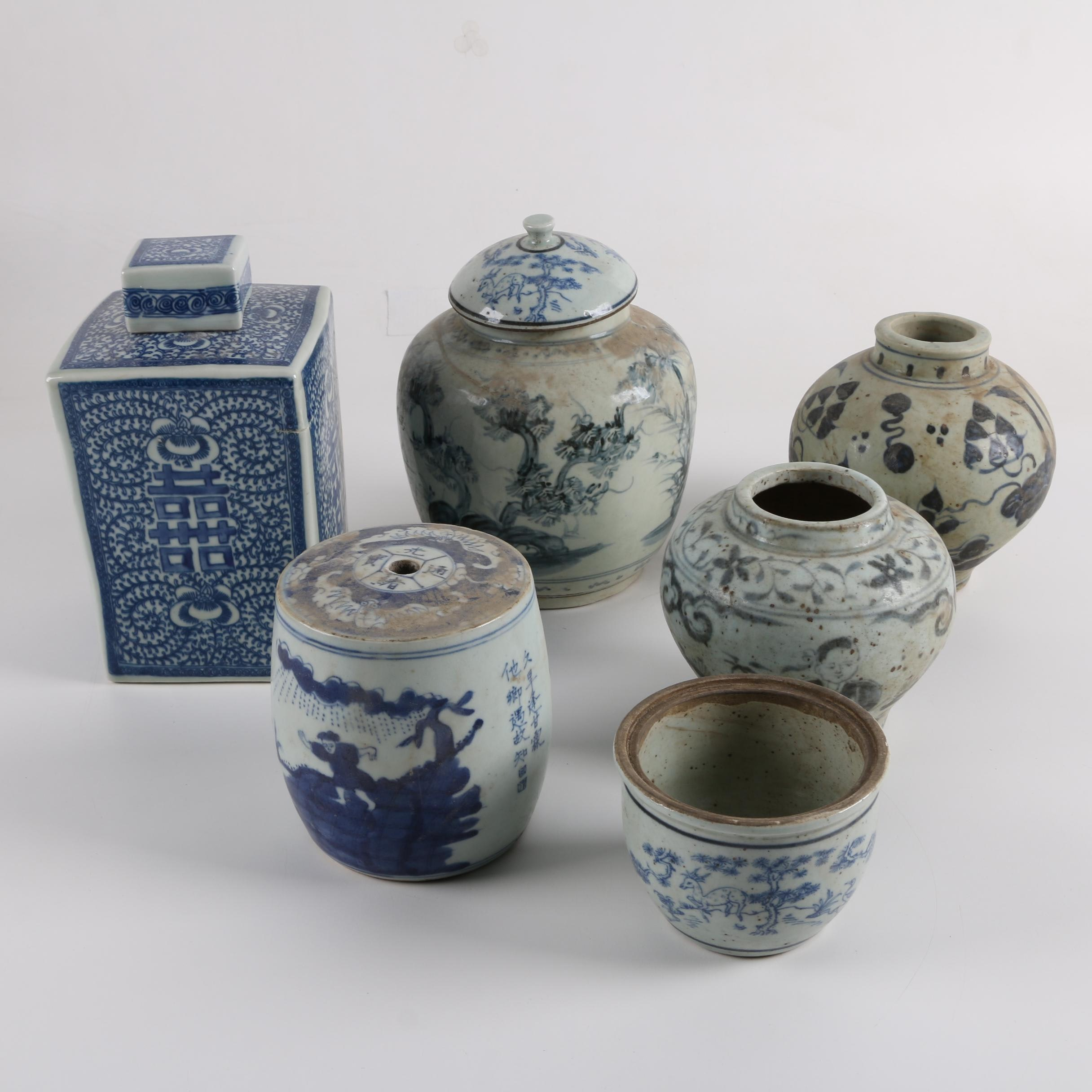 Contemporary Chinese Ceramic Vases and Ginger Jars