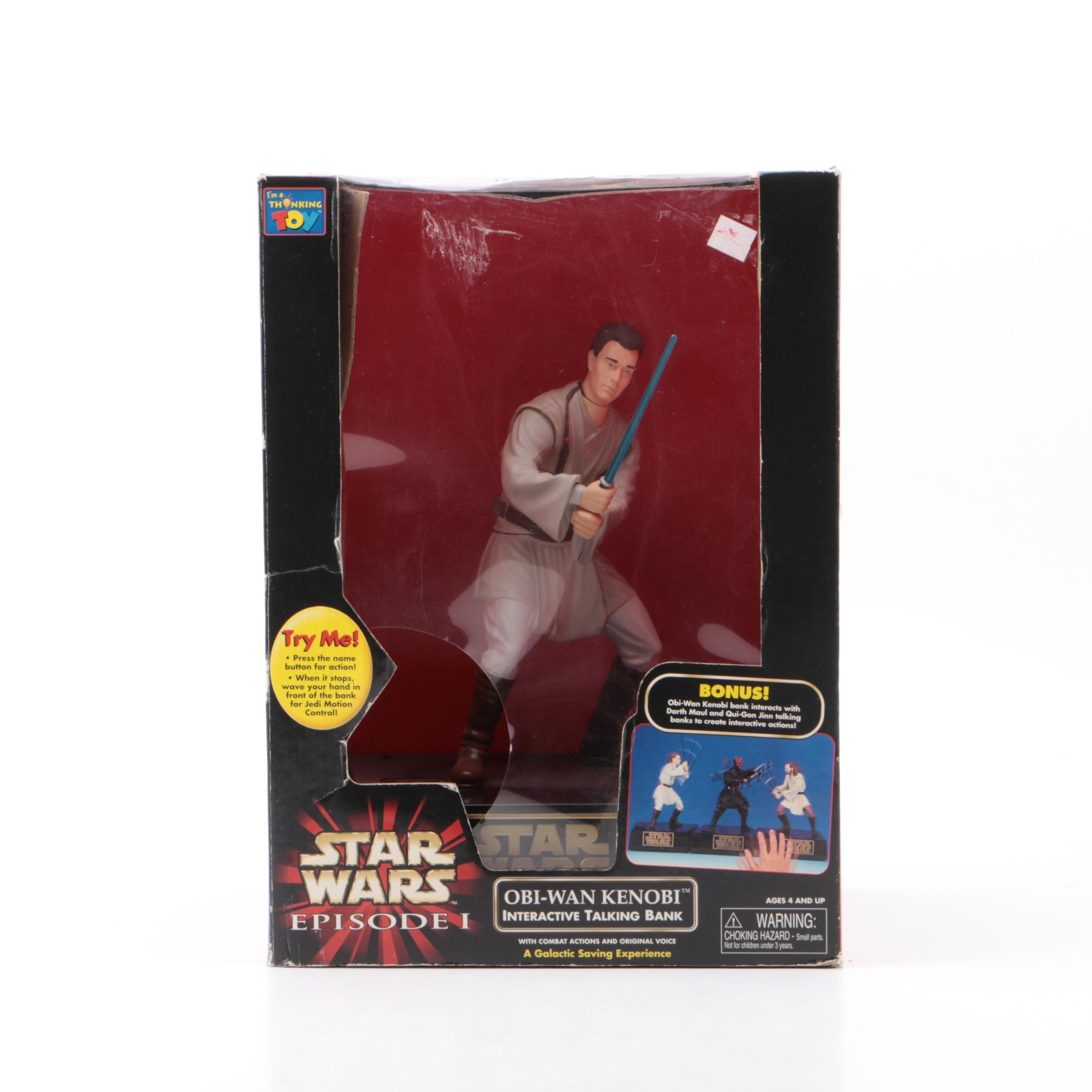 Star Wars Episode I Obi-Wan Kenobi Interactive Taking Coin Bank