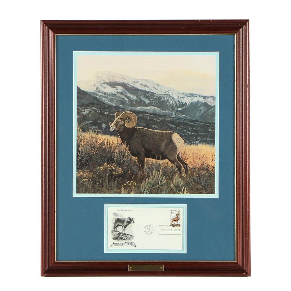 "Offset Lithograph After Bruce Miller ""High Country King"""