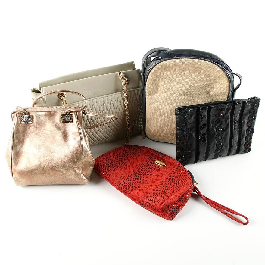 Vintage And Contemporary Handbags Including Emanuel Ungaro Carlo Fiori