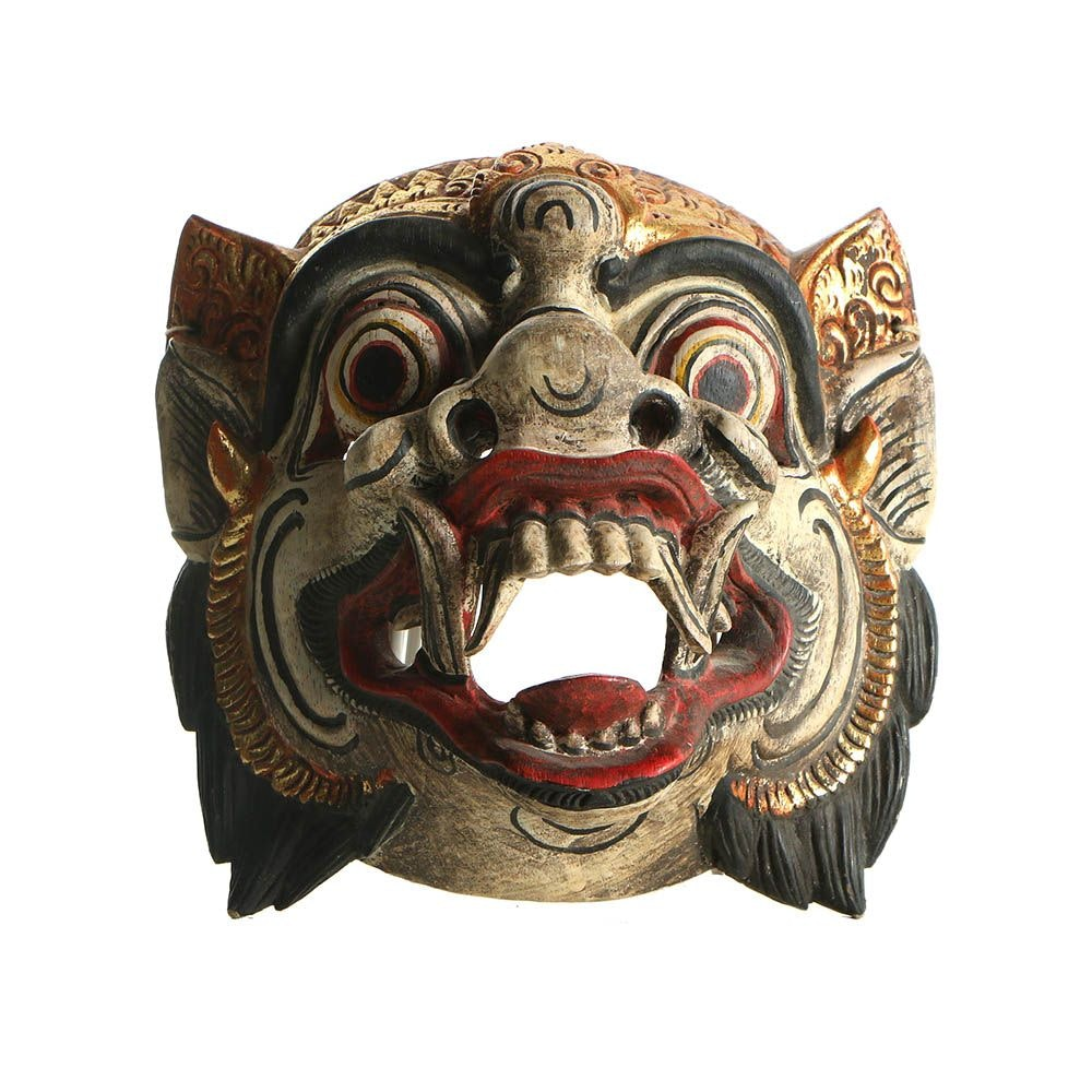 Balinese Barong Hand Painted Wooden Mask