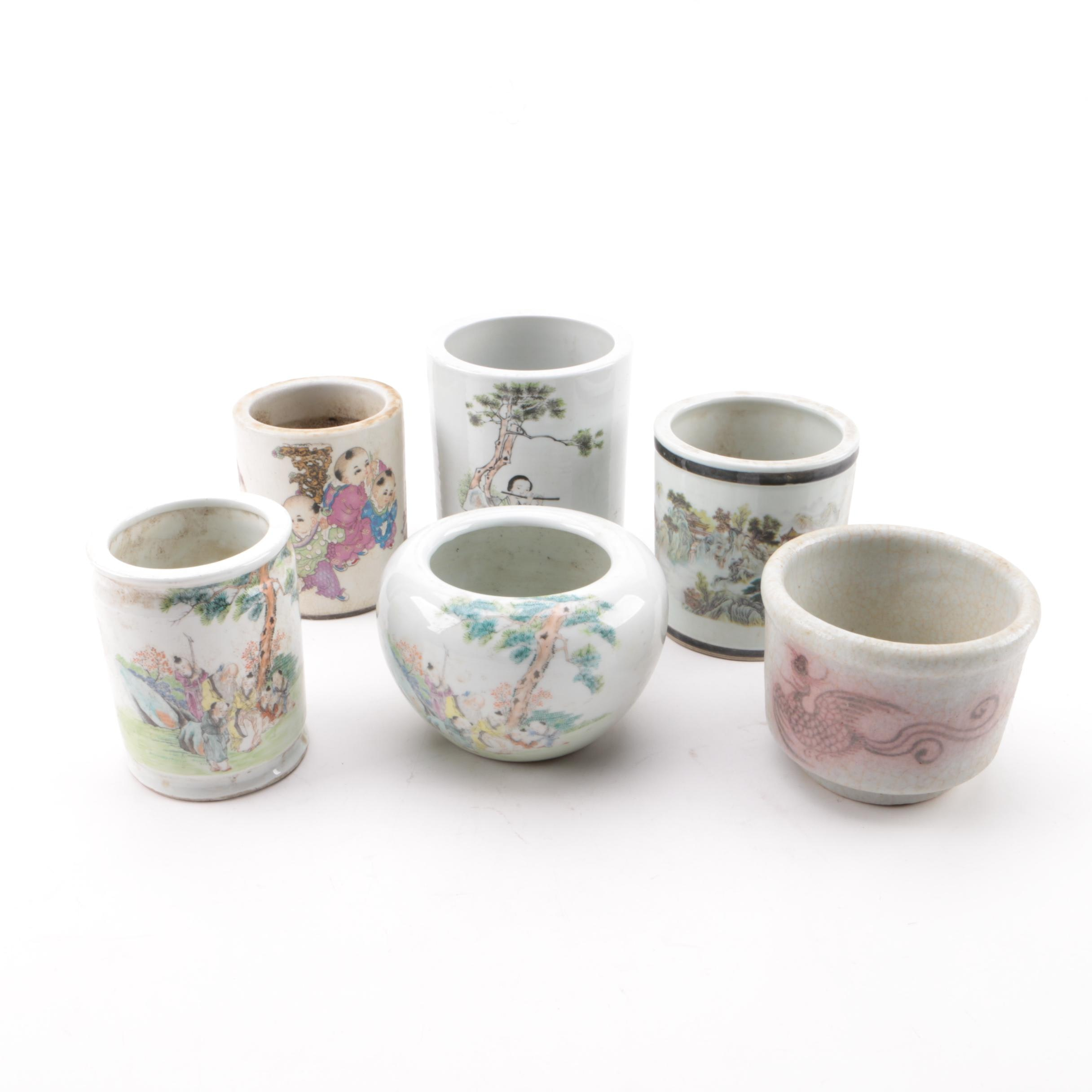 Contemporary Chinese Ceramic Vases and Planters