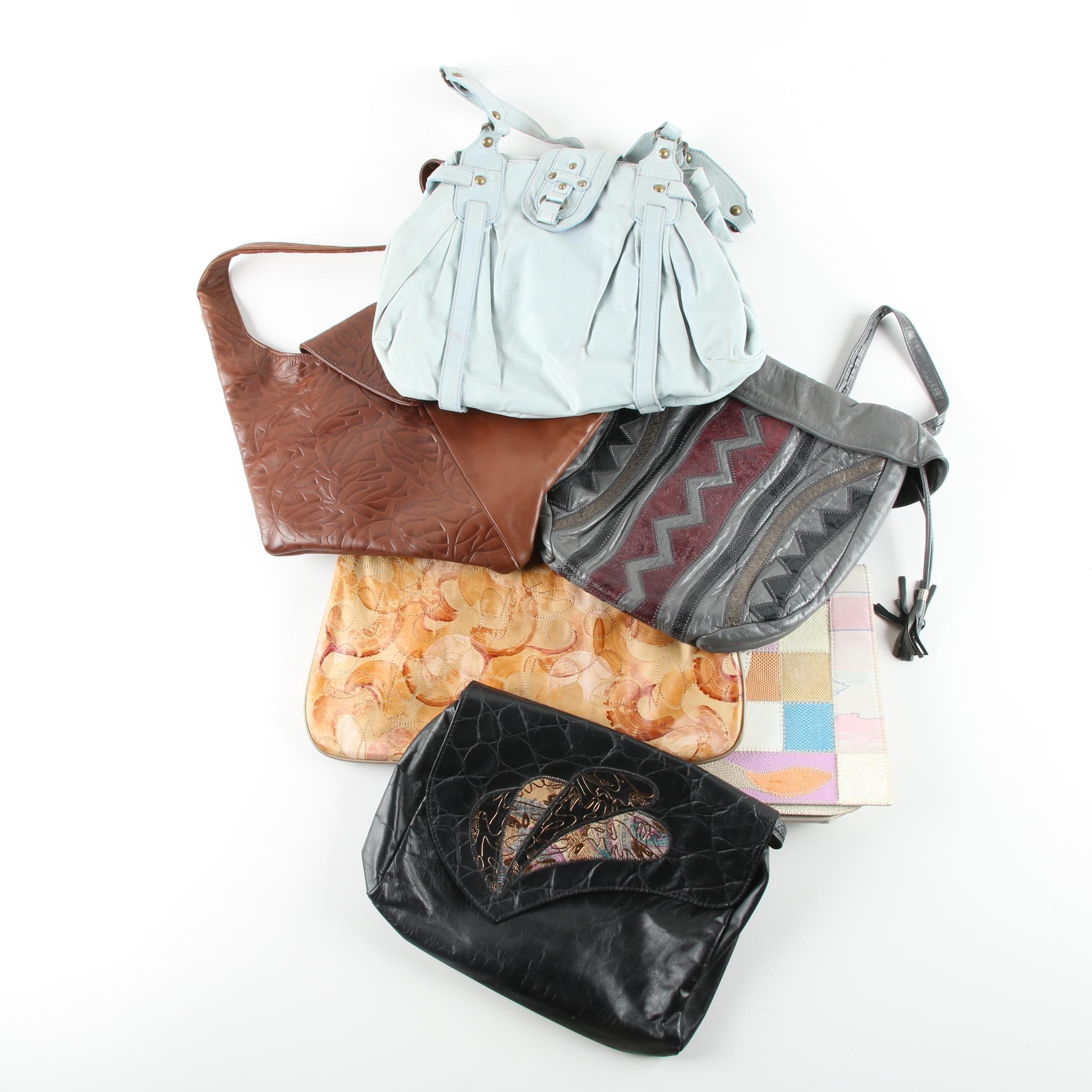 Vintage Handbags Including Furst & Mooney, Saereun New York, and Abaco Paris