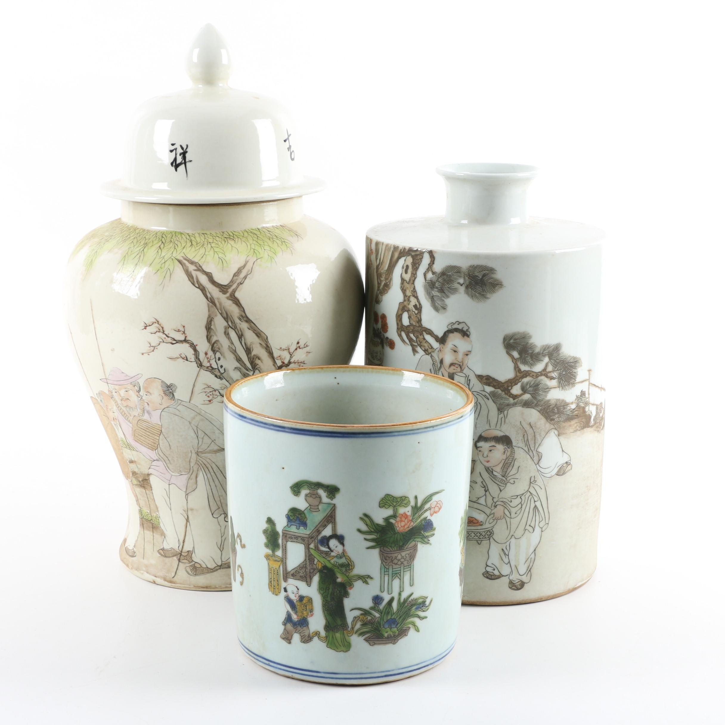 Chinese Hand-Thrown Vases and Jars