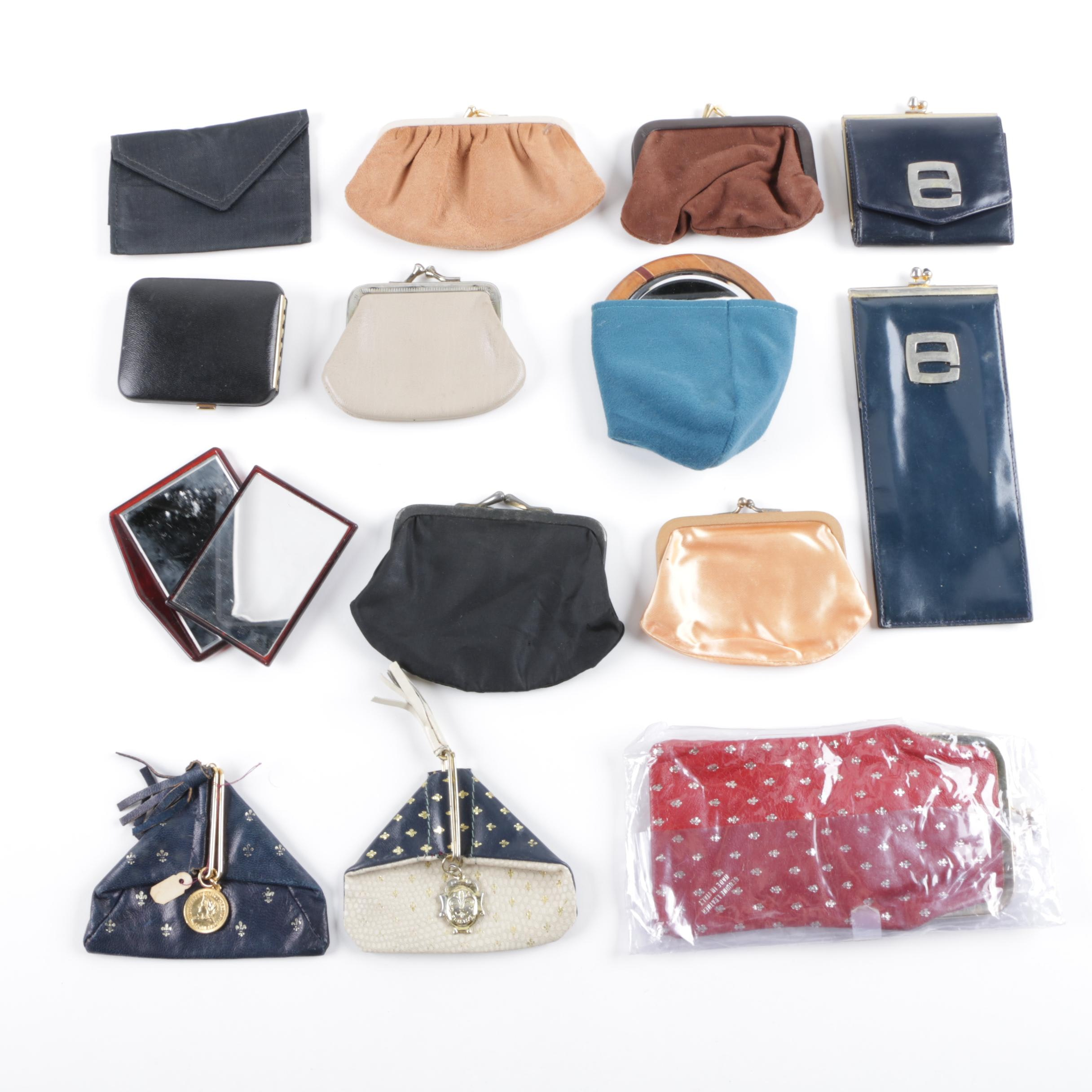 Vintage Coin Purses and Accessories Including Pierre Cardin