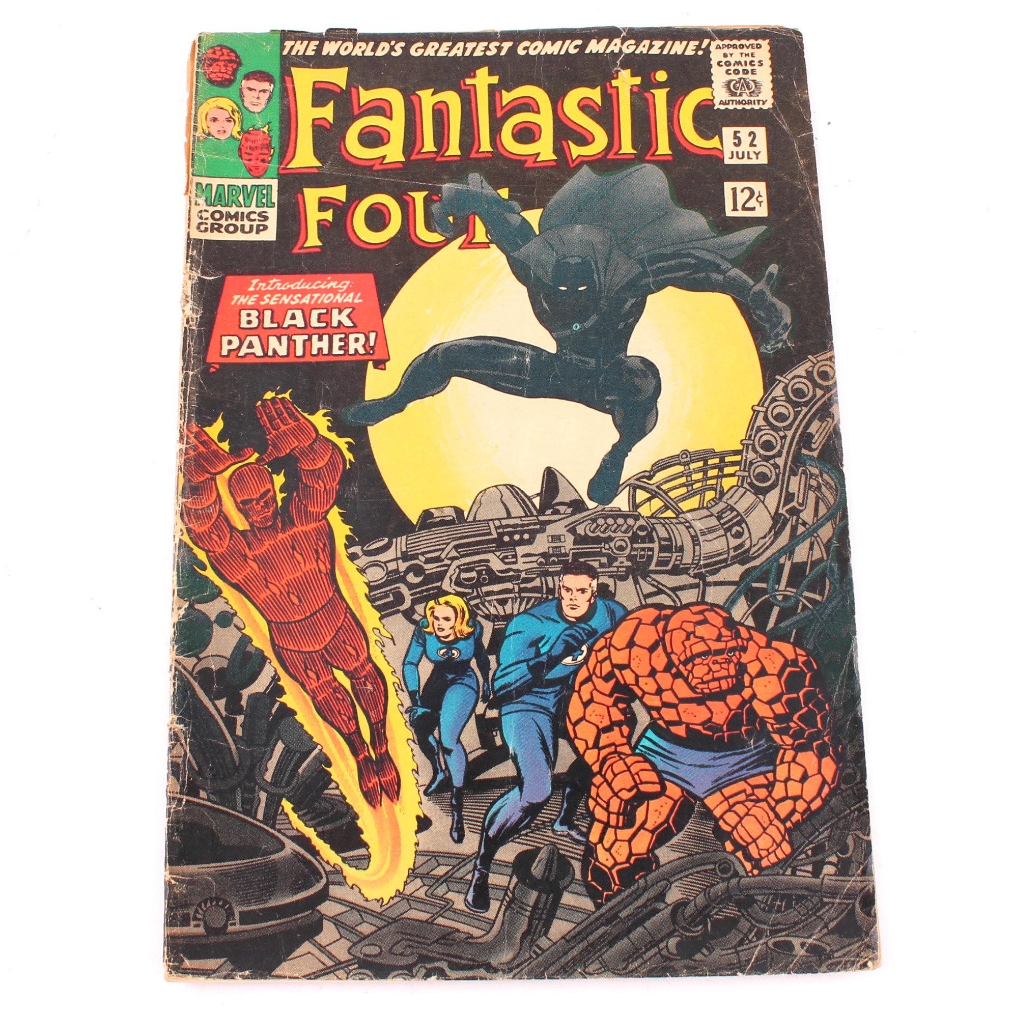 "1966 Fantastic Four #52 ""Introducing Black Panther"" Comic"