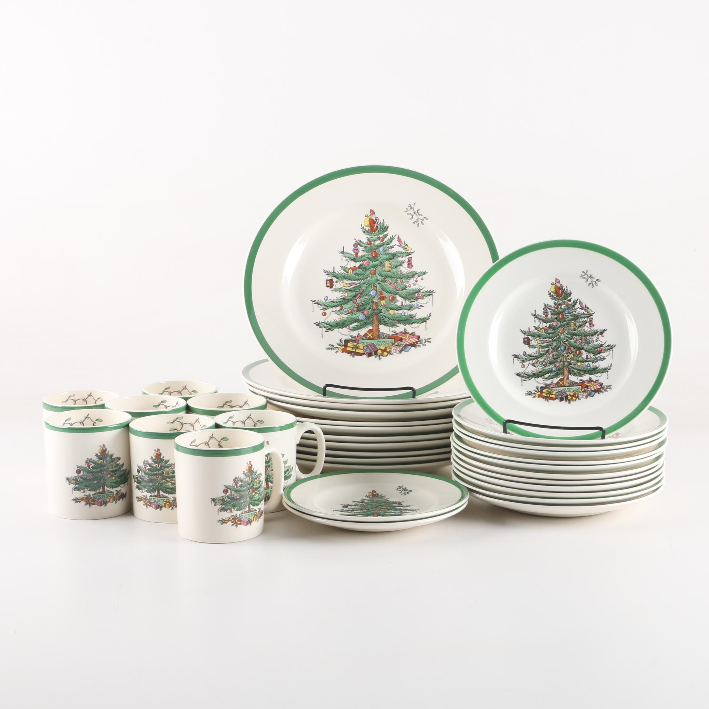 Vintage Spode 'Christmas Tree' Dinnerware
