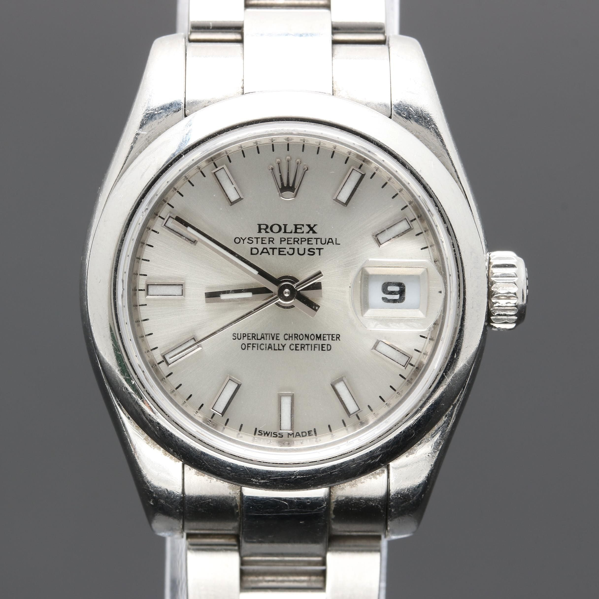 Rolex Perpetual Datejust Stainless Steel Wristwatch